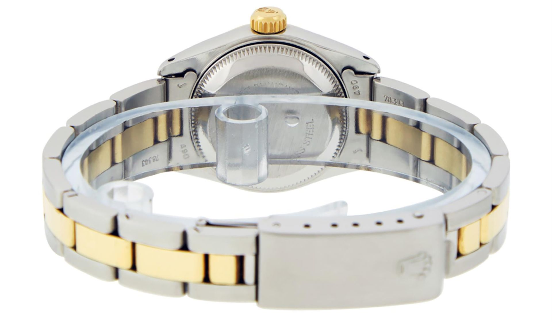 Rolex Ladies 26 Black Diamond Oyster Perpetual Datejust Polished Serviced - Image 6 of 9