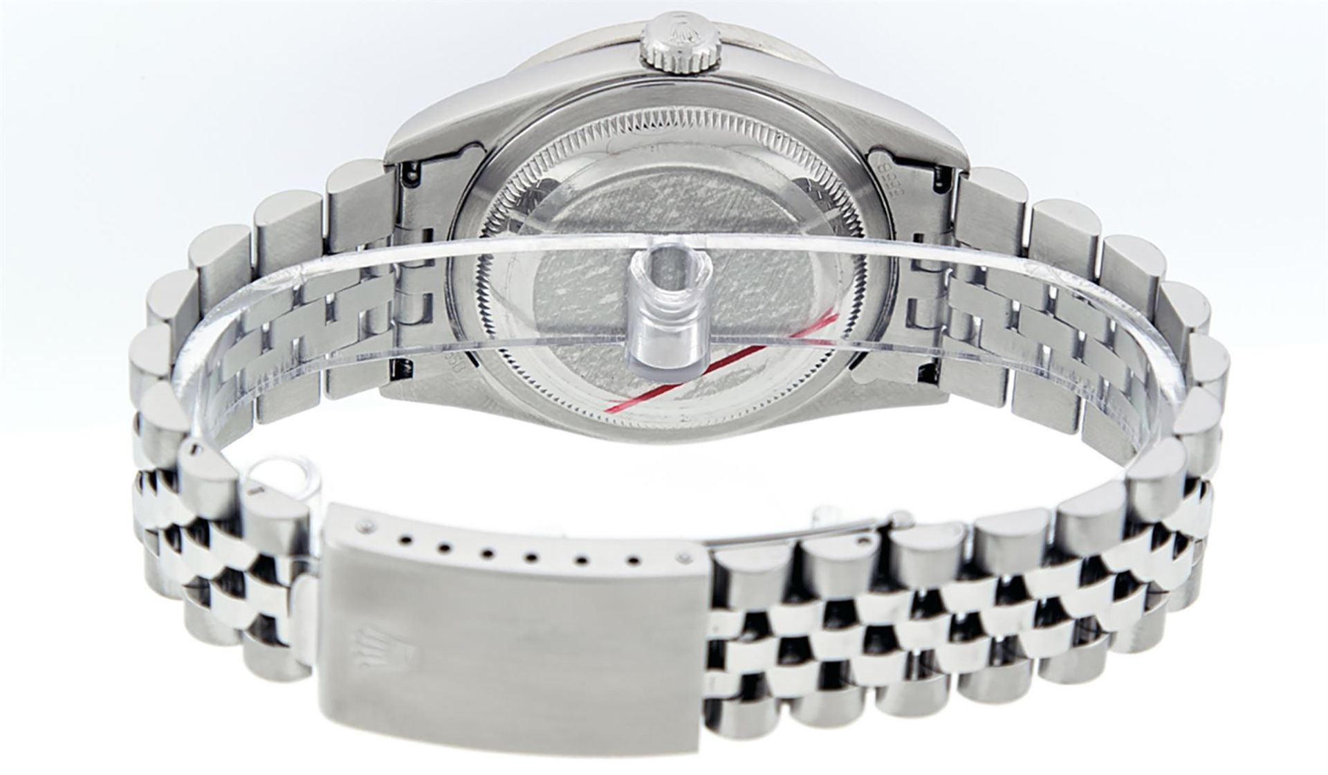 Rolex Mens Stainless Steel Mother Of Pearl Diamond 36MM Datejust Wristwatch - Image 5 of 8