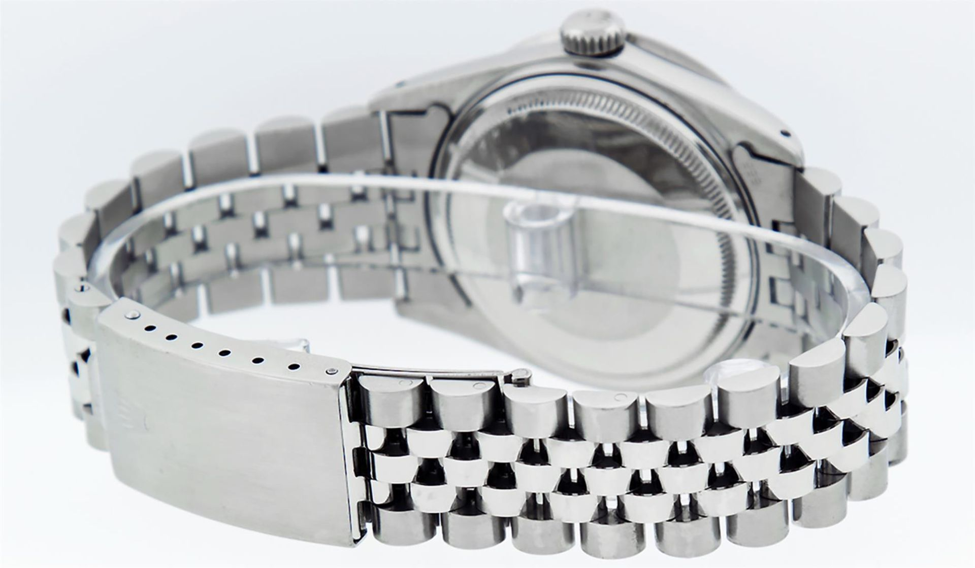 Rolex Mens Stainless Steel Mother Of Pearl Diamond 36MM Oyster Perpetual Datejus - Image 4 of 8