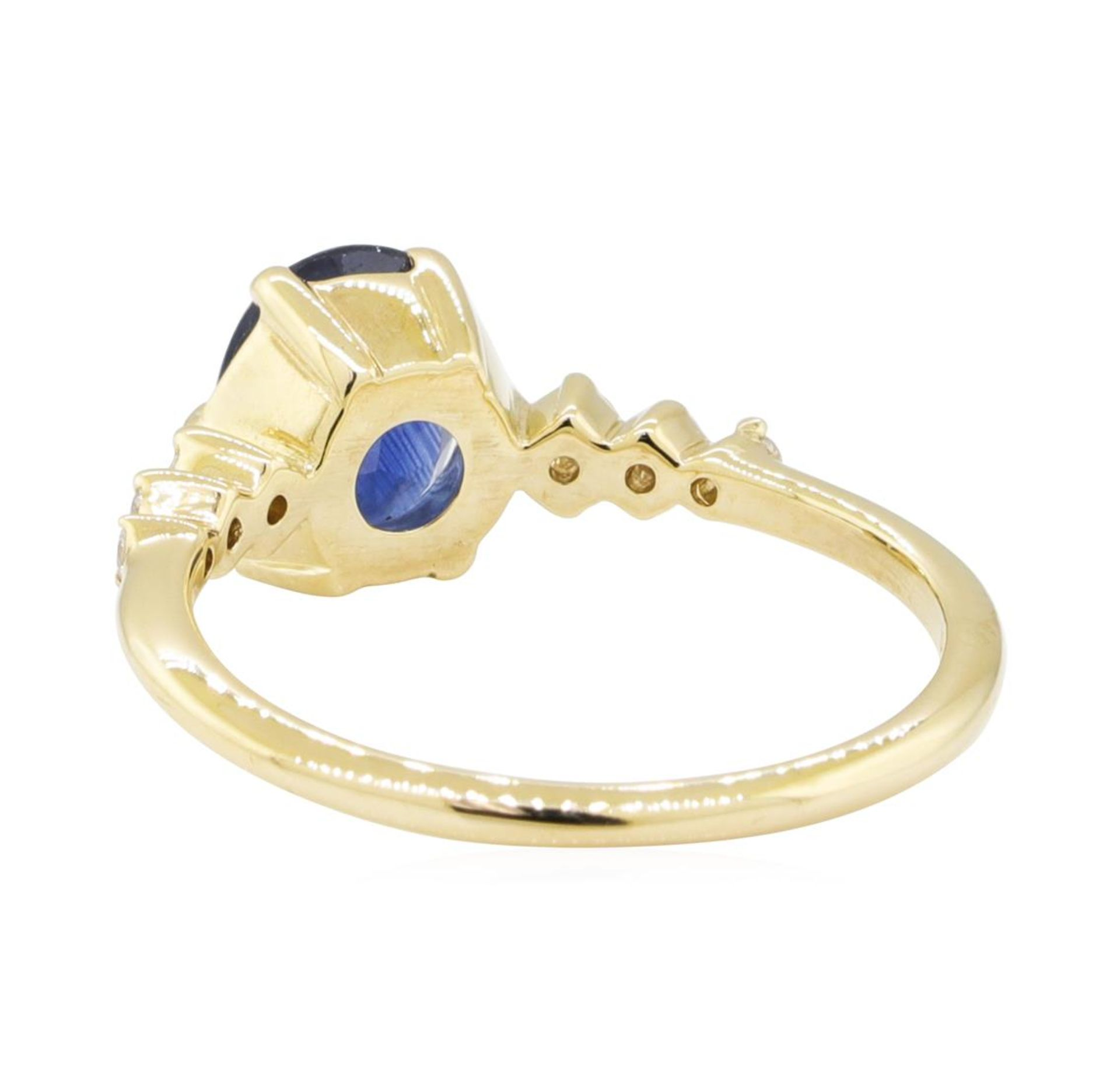1.43ctw Sapphire and Diamond Ring - 14KT Yellow Gold - Image 3 of 4