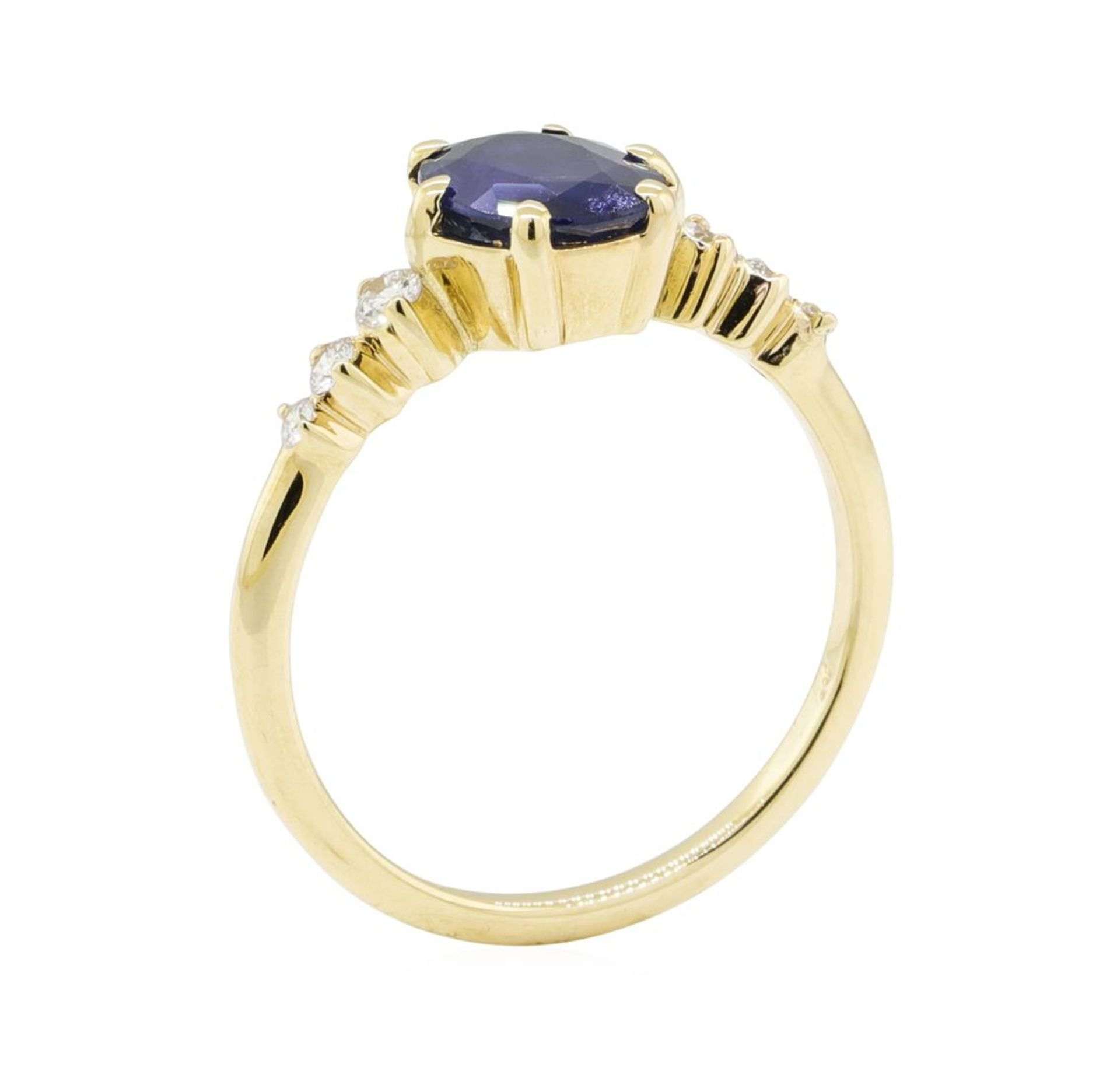 1.43ctw Sapphire and Diamond Ring - 14KT Yellow Gold - Image 4 of 4