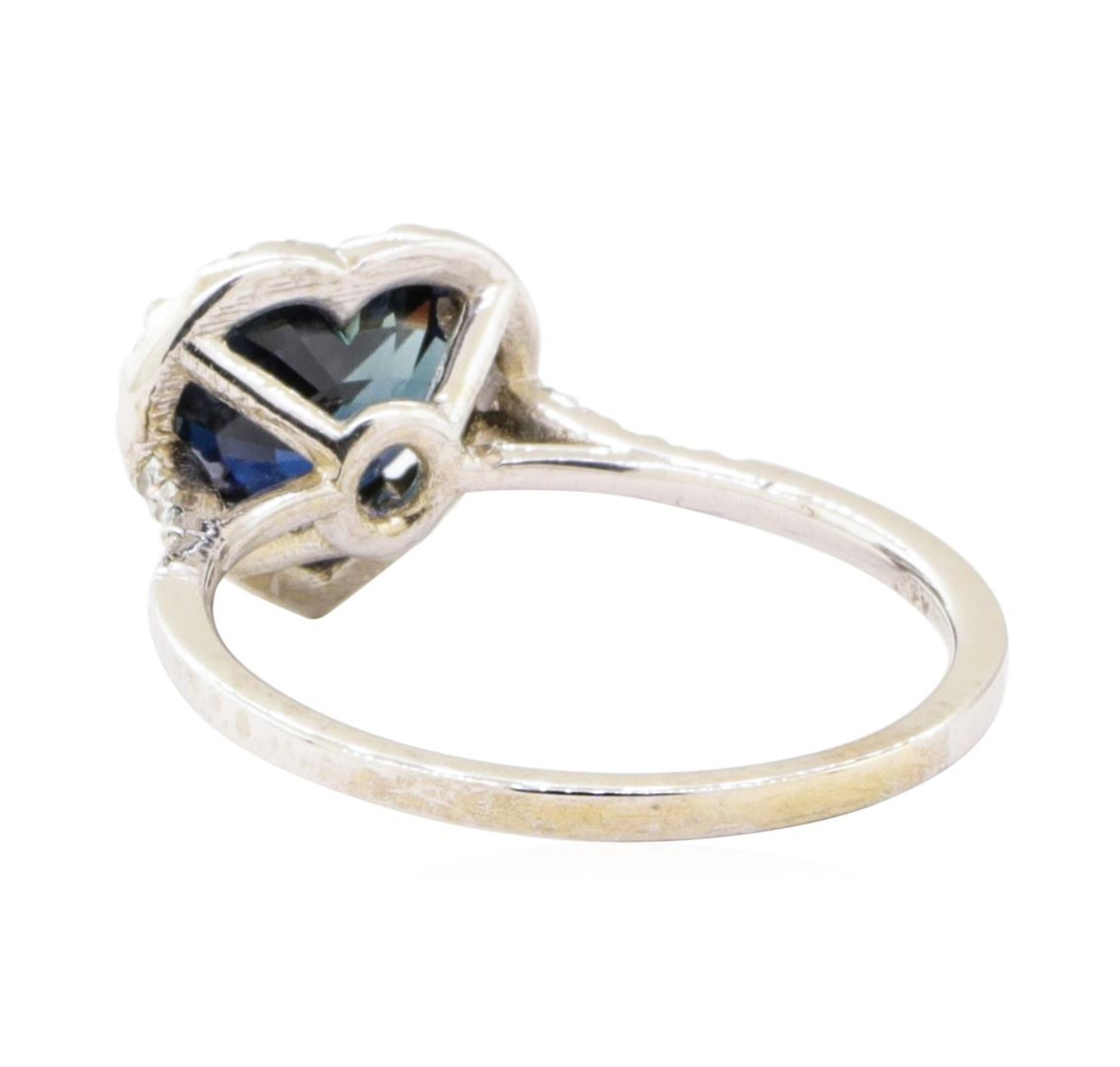2.66 ctw Sapphire And Diamond Ring - 18KT White Gold - Image 3 of 5