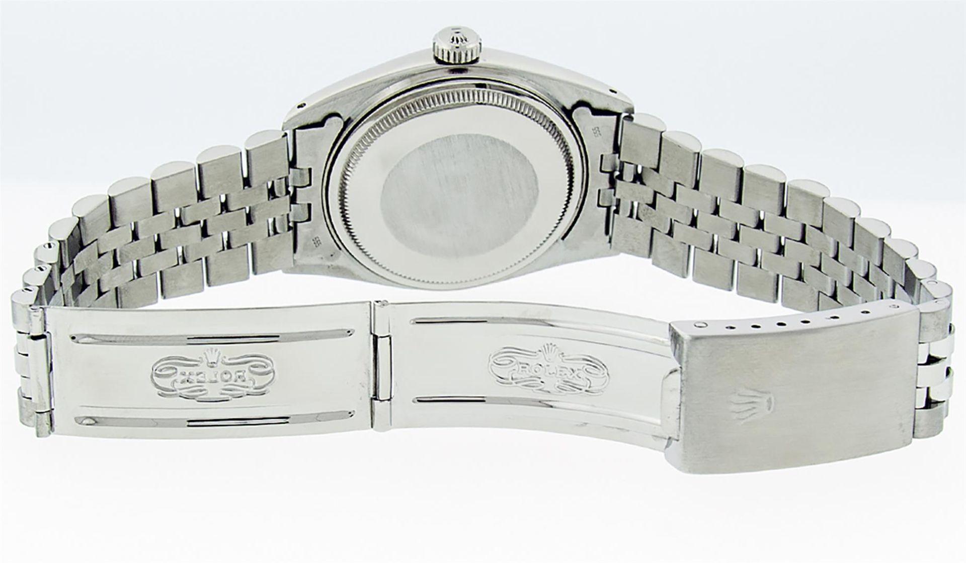 Rolex Ladies 2 Tone Pink MOP Diamond & Sapphire String Datejust Wristwatch - Image 8 of 9