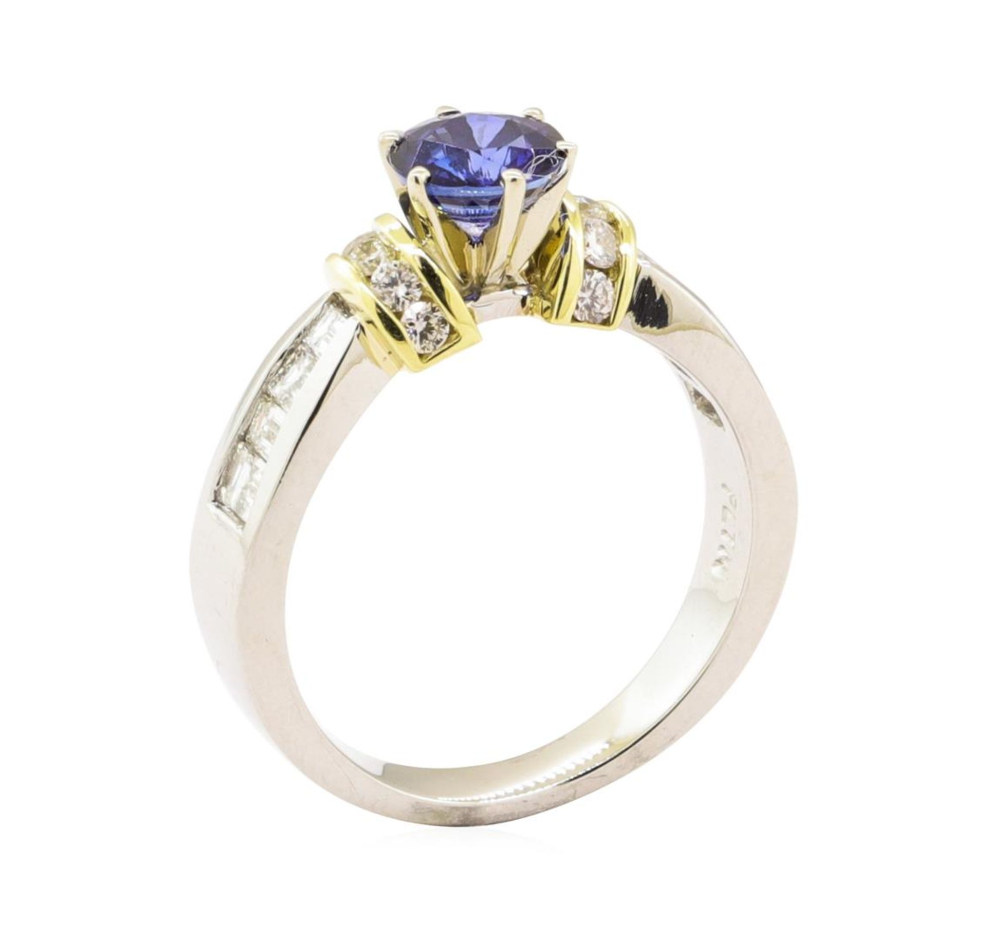 1.65 ctw Blue Sapphire And Diamond Ring - Platinum and 18KT Yellow Gold - Image 4 of 5