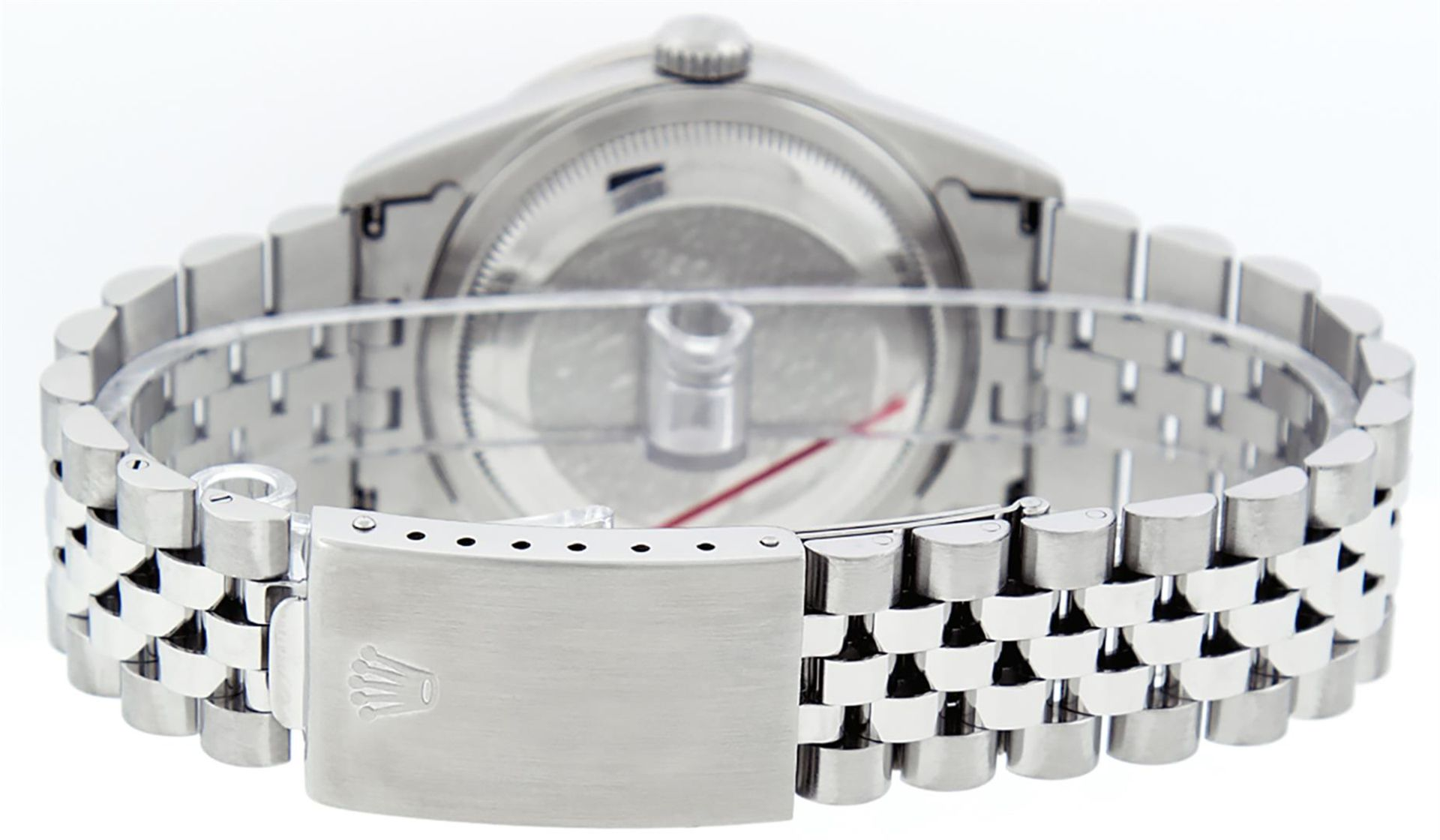 Rolex Mens Stainless Steel Mother Of Pearl Diamond 36MM Datejust Wristwatch - Image 6 of 8