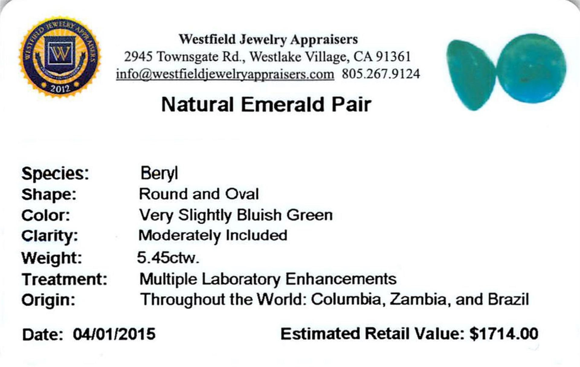 5.45ctw Fancy Mixed Emerald Parcel - Image 2 of 2
