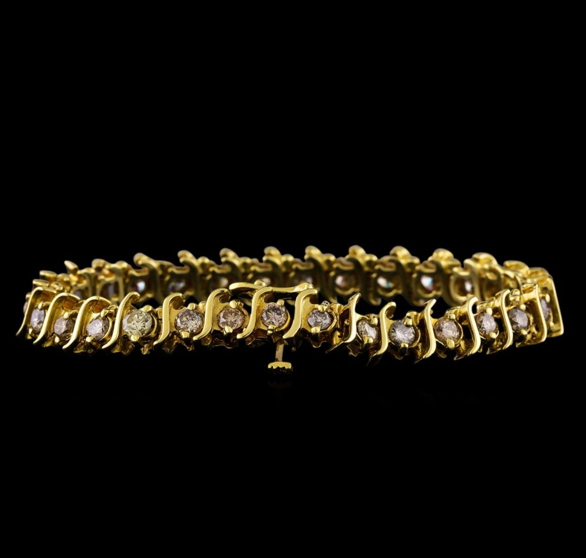 4.85 ctw Diamond Bracelet - 14KT Yellow Gold - Image 2 of 4