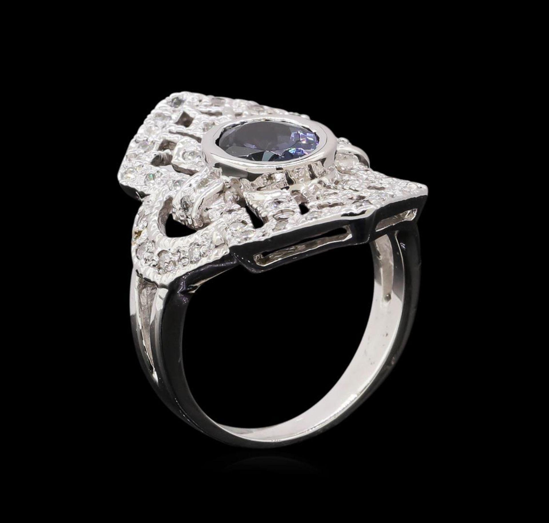 1.84 ctw Tanzanite and Diamond Ring - 14KT White Gold - Image 4 of 5