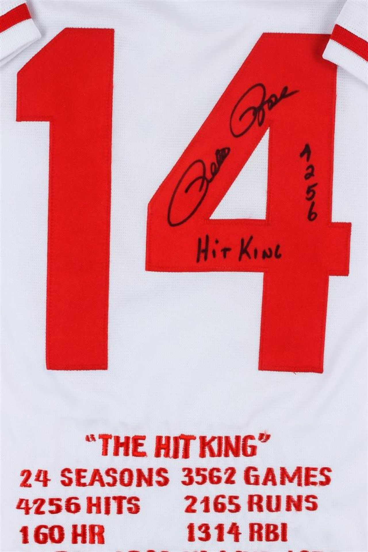 Cincinnati Reds Pete Rose Autographed Jersey With Stats - Image 2 of 3