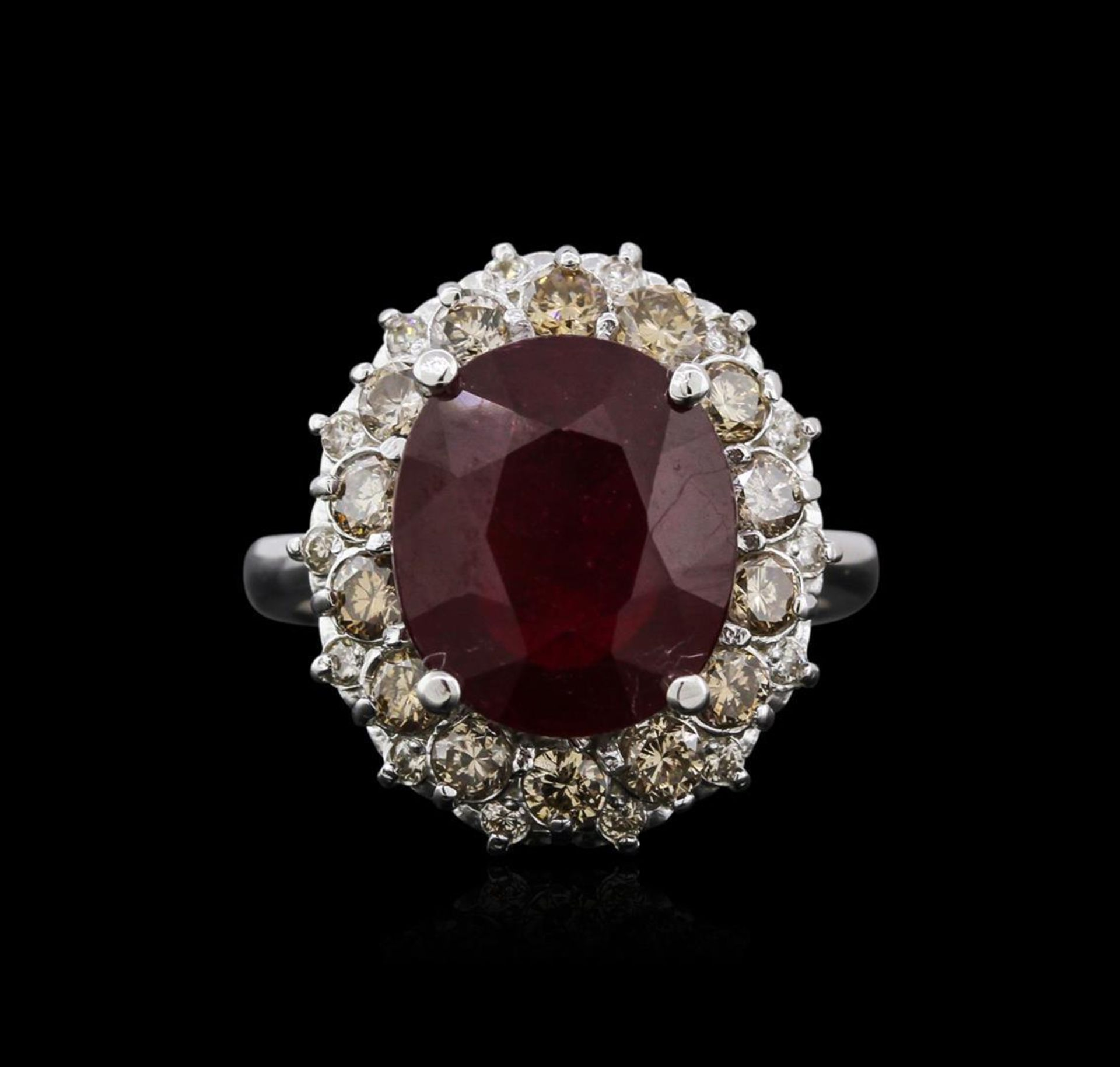 14KT White Gold 6.16 ctw Ruby and Diamond Ring - Image 2 of 4