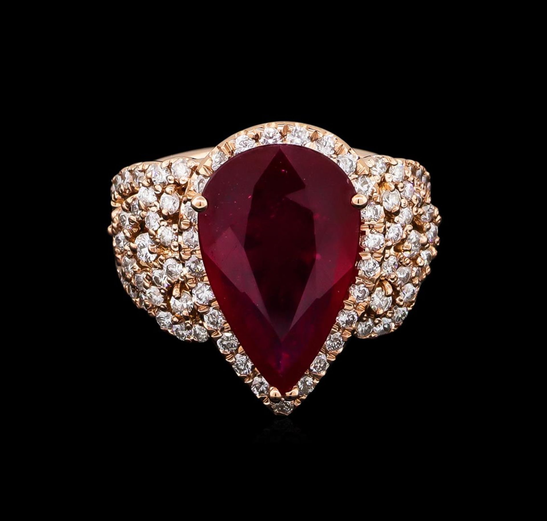 5.35ct Ruby and Diamond Ring - 14KT Rose Gold - Image 2 of 6