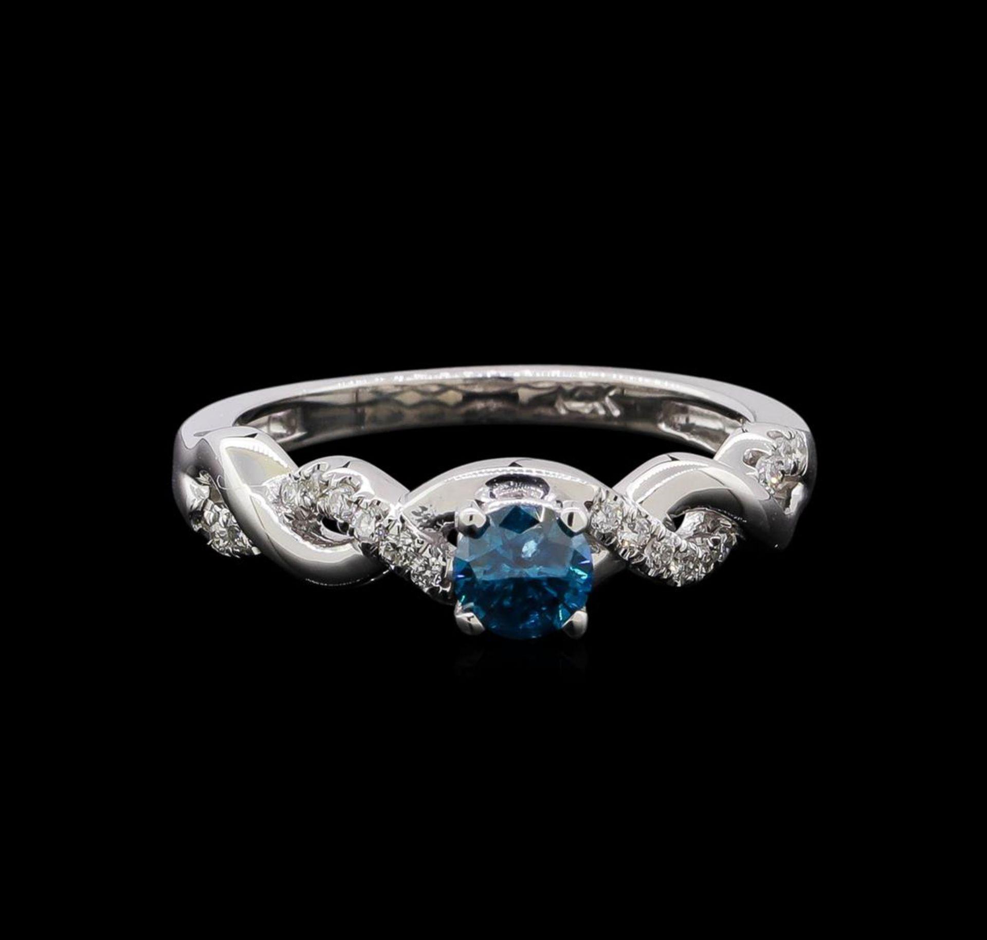 0.49 ctw Blue Diamond Ring - 14KT White Gold - Image 2 of 4