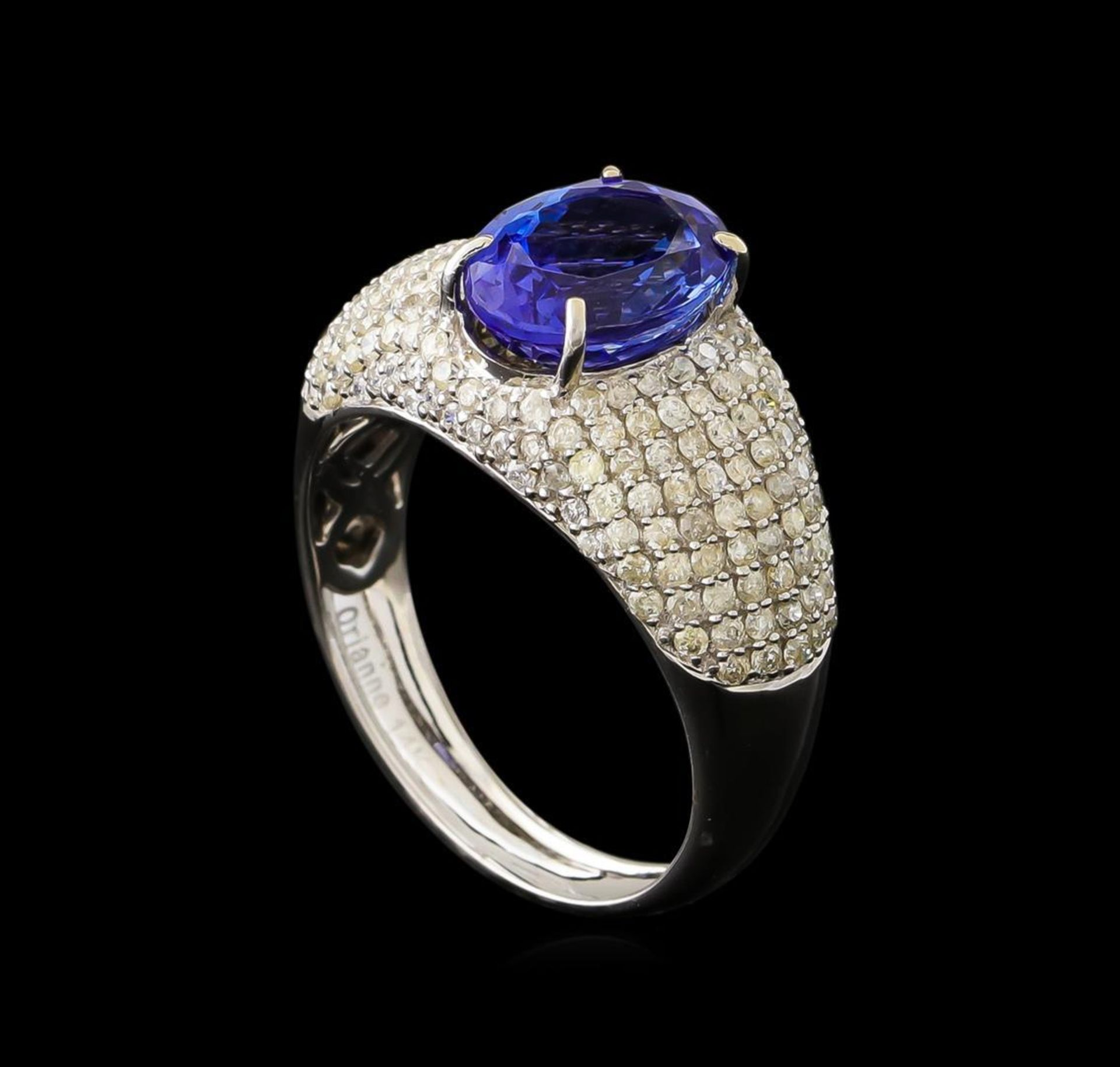 2.77ct Tanzanite and Diamond Ring - 14KT White Gold - Image 4 of 5