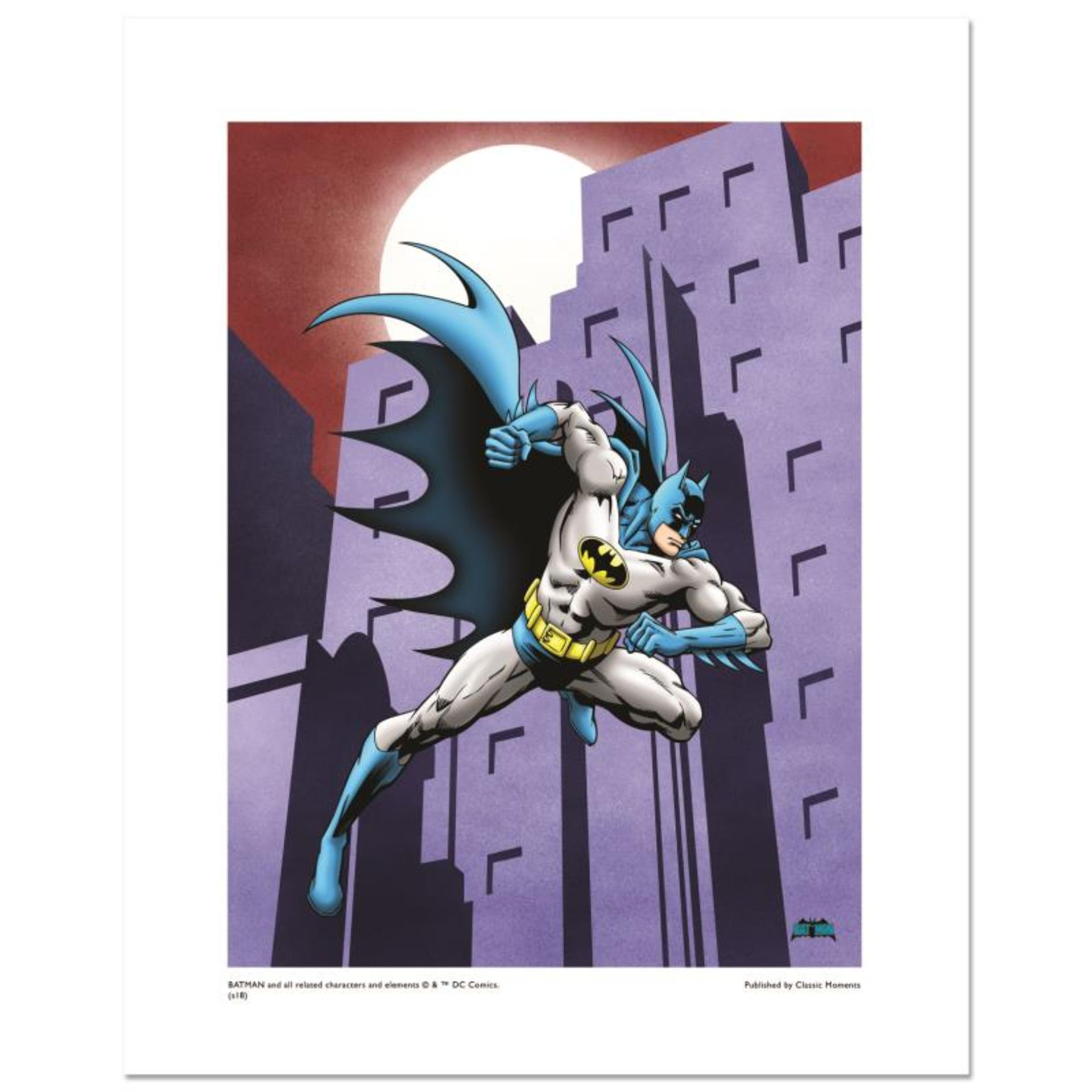 """""""Batman Running"""" Numbered Limited Edition Giclee from DC Comics with Certificate"""