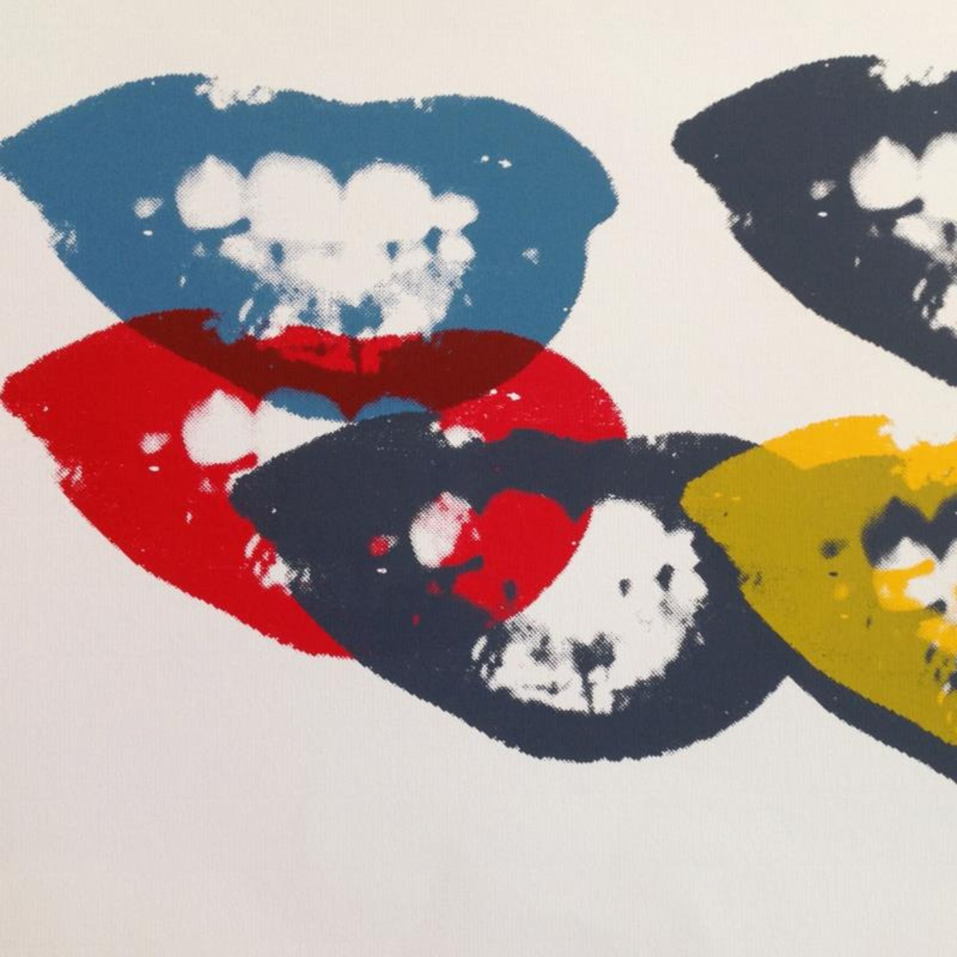 """Andy Warhol """"I Love Your Kiss Forever Forever"""" Limited Edition Silk Screen Print - Image 2 of 2"""