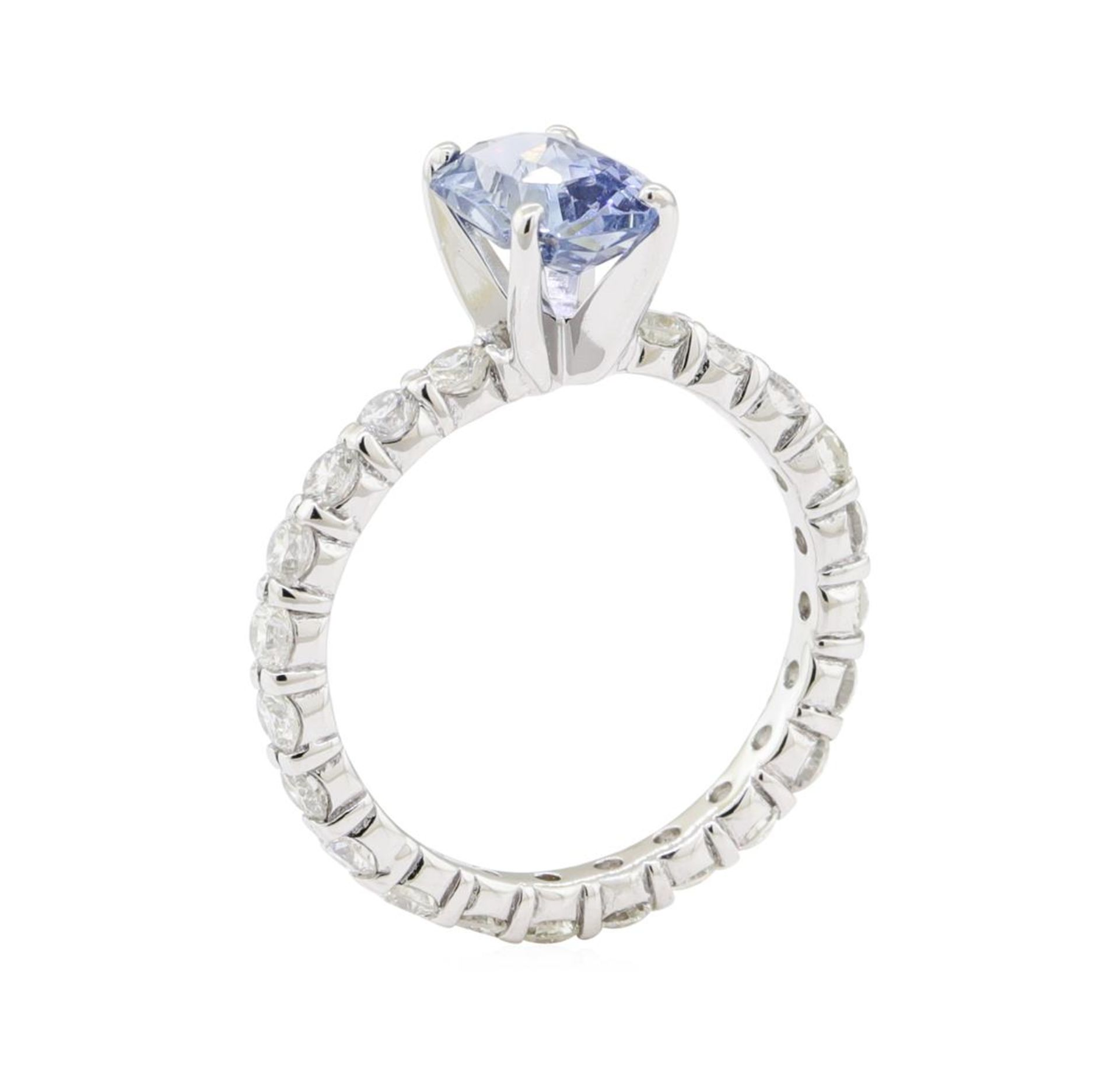 2.84 ctw Sapphire and Diamond Ring - 14KT White Gold - Image 4 of 5