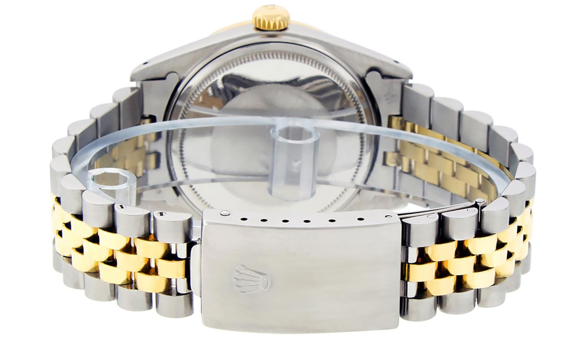 Rolex Mens 2 Tone Mother Of Pearl Diamond 36MM Oyster Perpetual Datejust - Image 6 of 7
