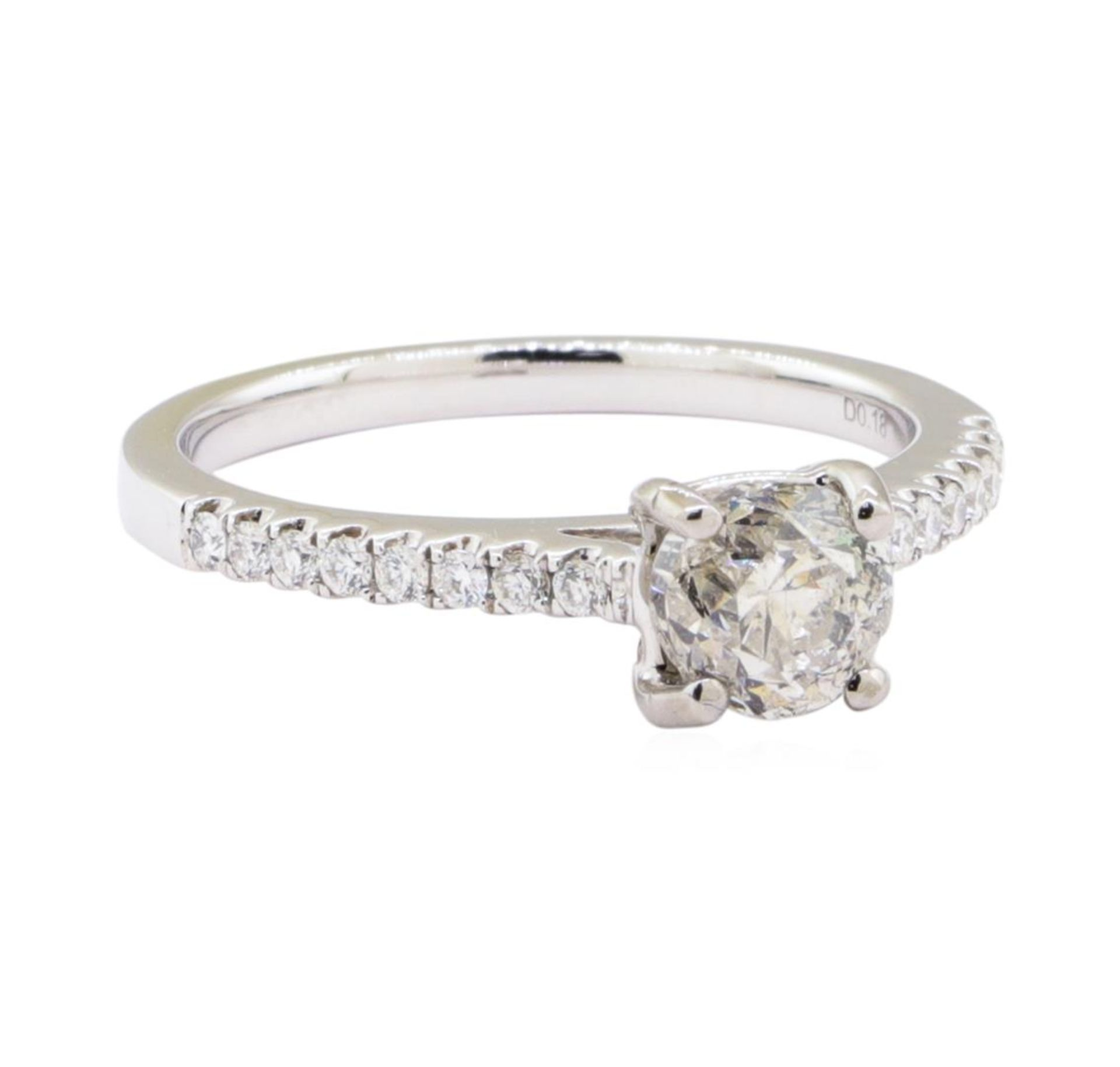 1.07ct Diamond Ring - 18KT White Gold