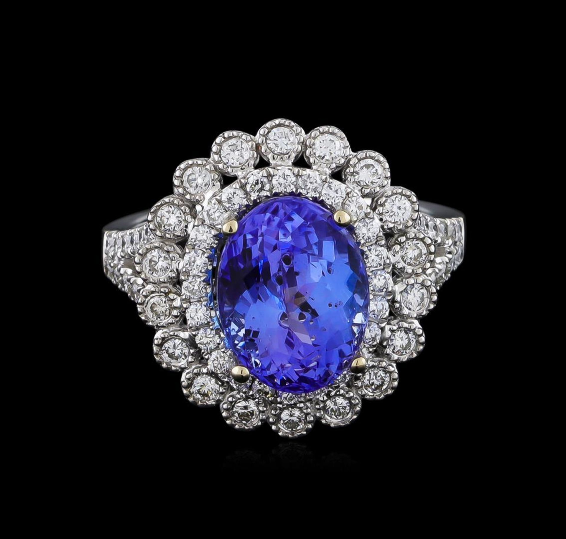 18KT White Gold 3.95 ctw Tanzanite and Diamond Ring - Image 2 of 5