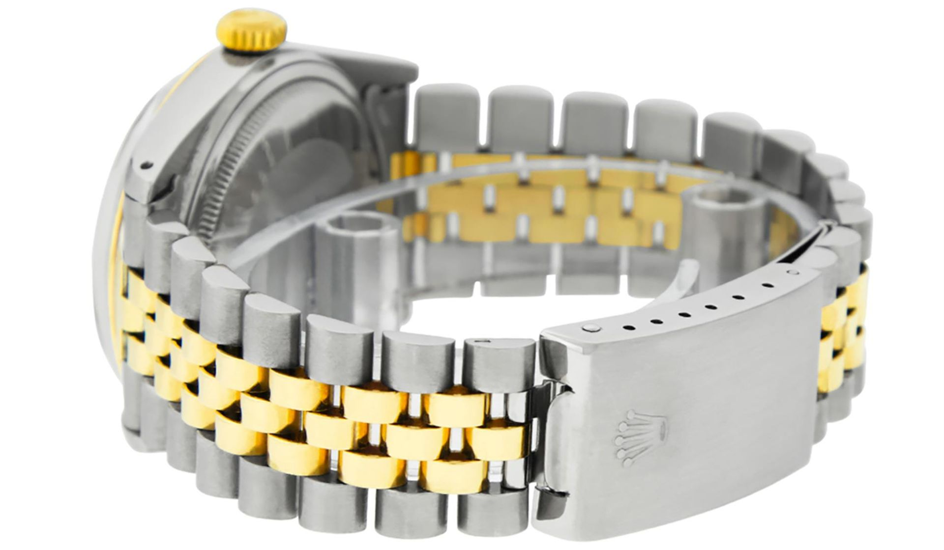 Rolex Mens 2 Tone Mother Of Pearl Diamond 36MM Oyster Perpetual Datejust - Image 7 of 7