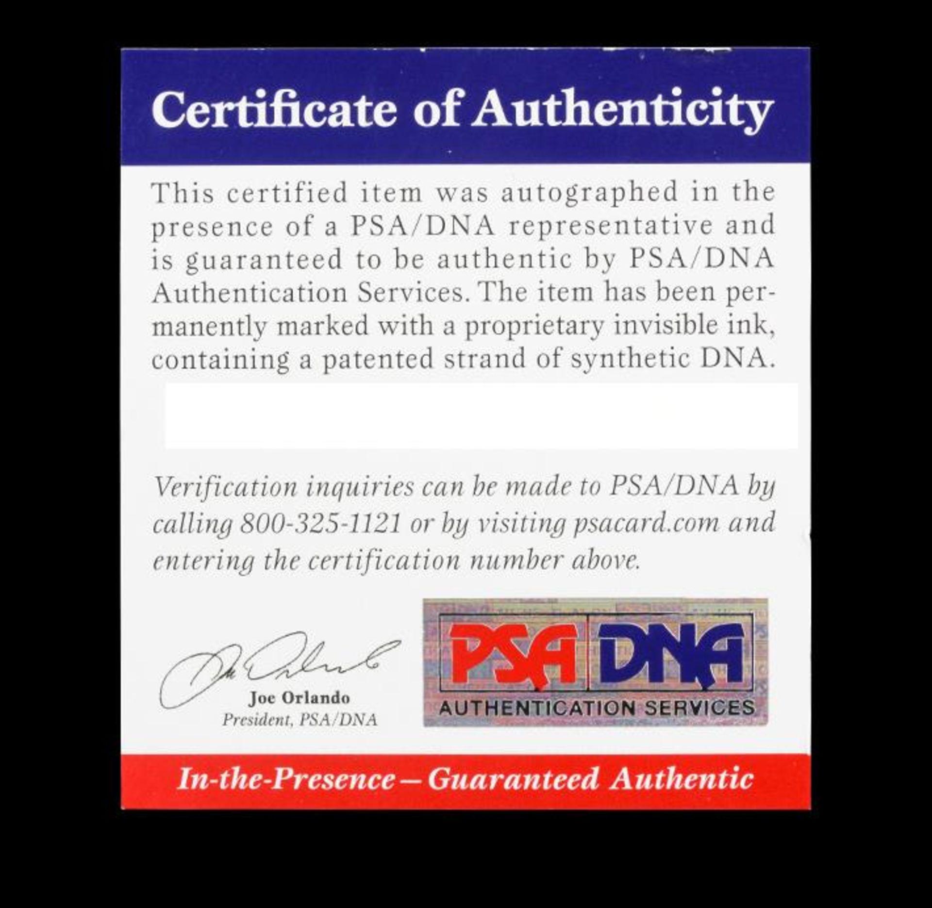 Autographed Duke Snider Brooklyn Helmet PSA Certified - Image 4 of 4