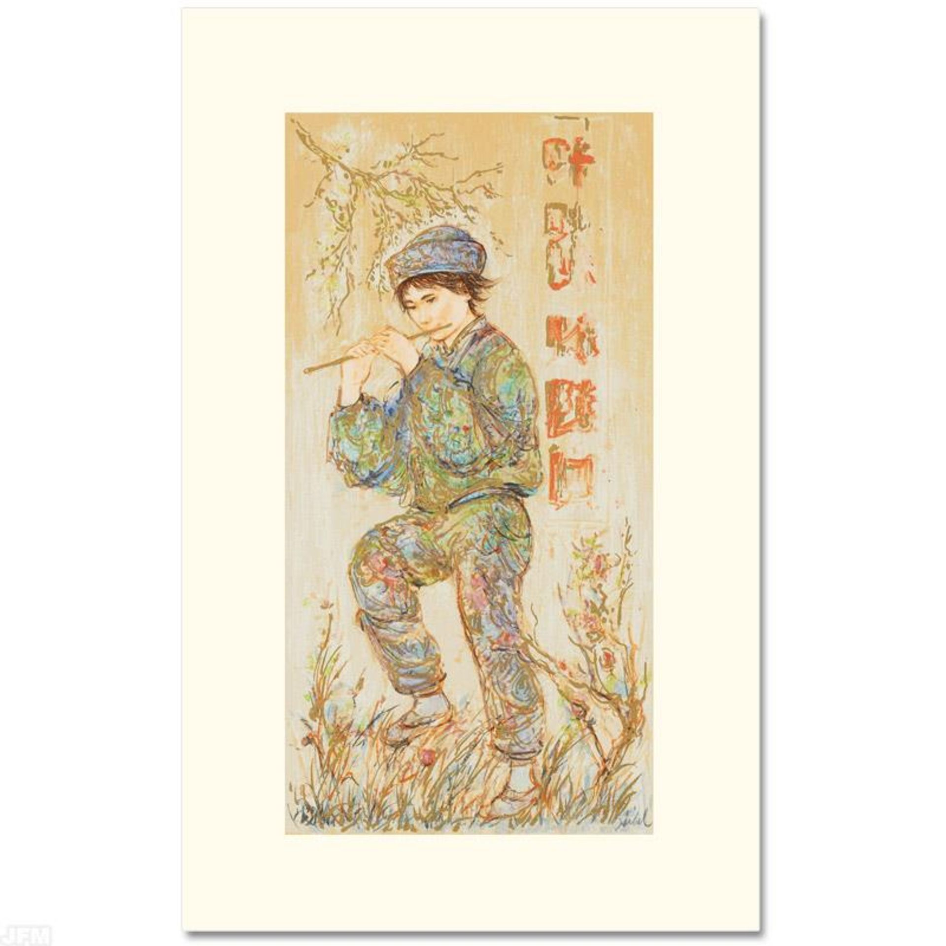 """""""Puck"""" Limited Edition Serigraph by Edna Hibel (1917-2014), Numbered and Hand Si"""