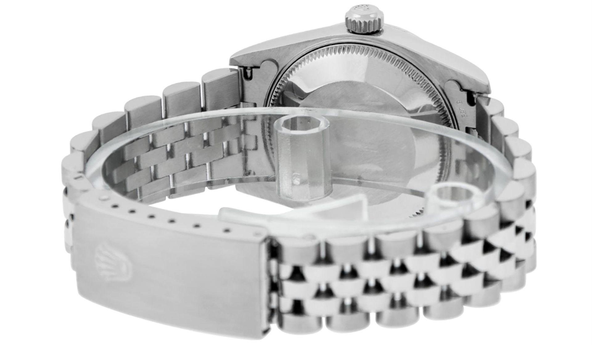 Rolex Womens Midsize Quickset 31mm MOP Diamond Stainless Steel Datejust Wriswatc - Image 7 of 9