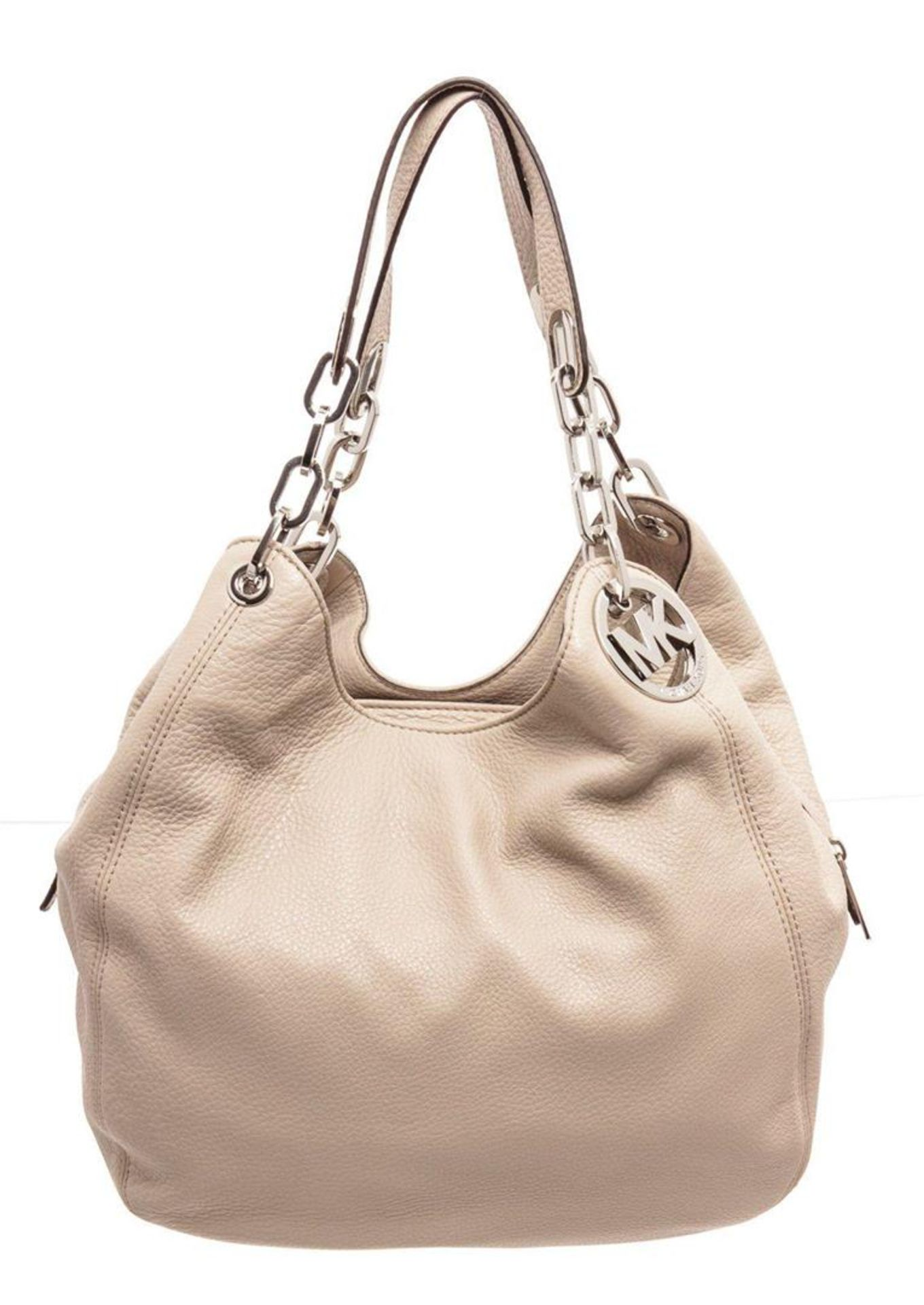 Michael Kors Beige Leather Fulton Hobo Bag