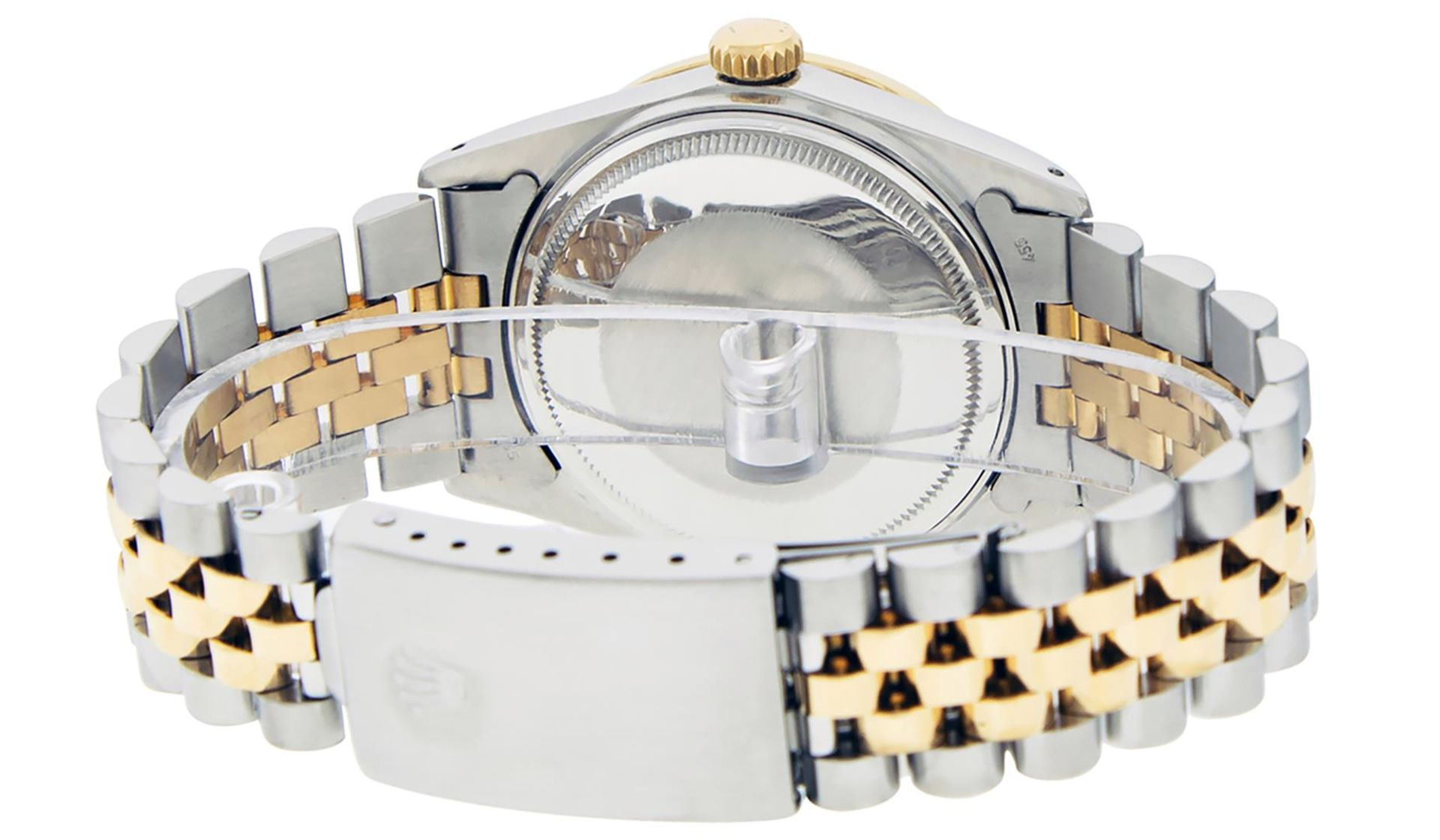 Rolex Mens 2 Tone Mother Of Pearl Diamond 36MM Oyster Perpetual Datejust - Image 5 of 7