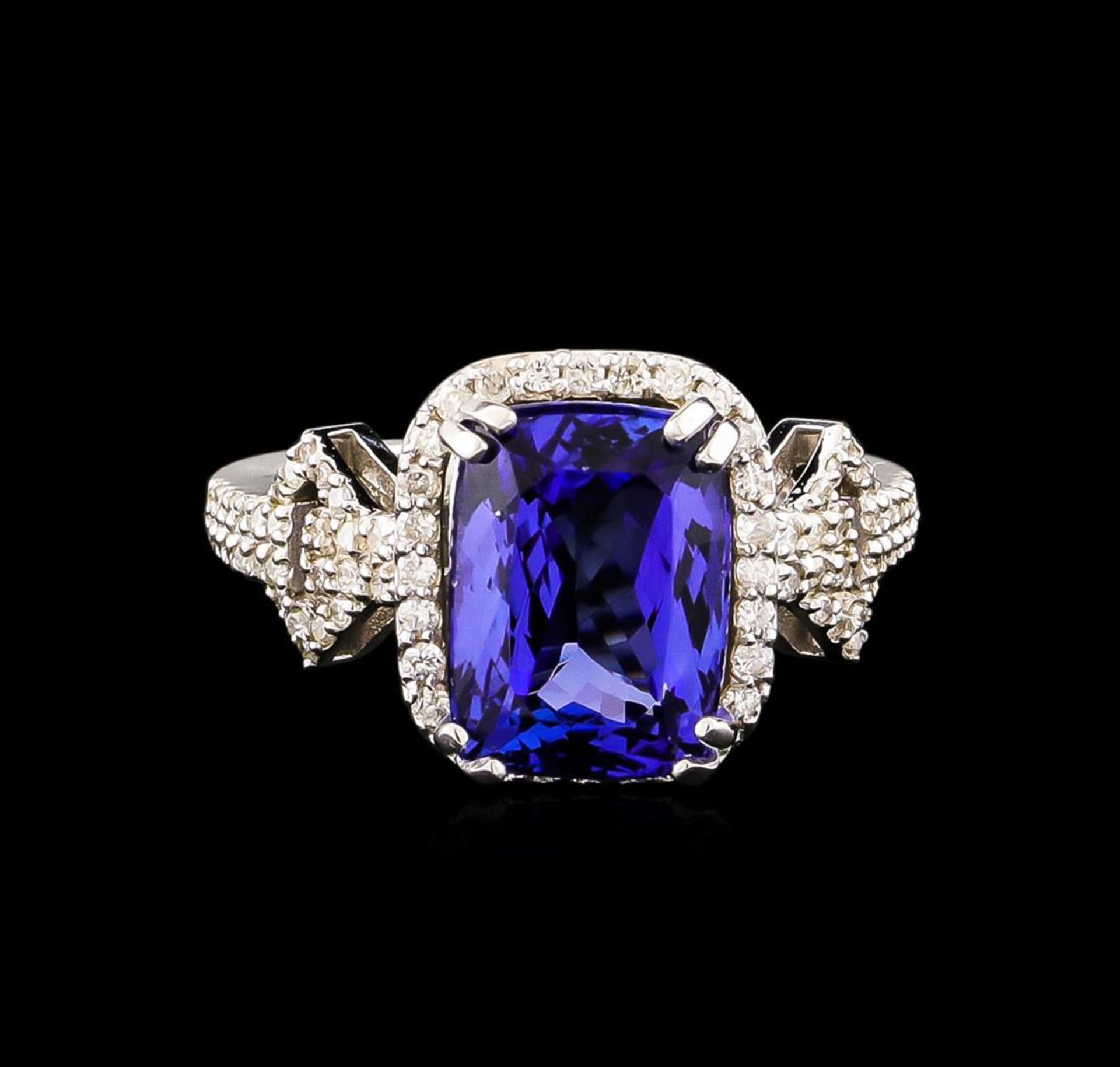 14KT White Gold 3.40 ctw Tanzanite and Diamond Ring - Image 2 of 5