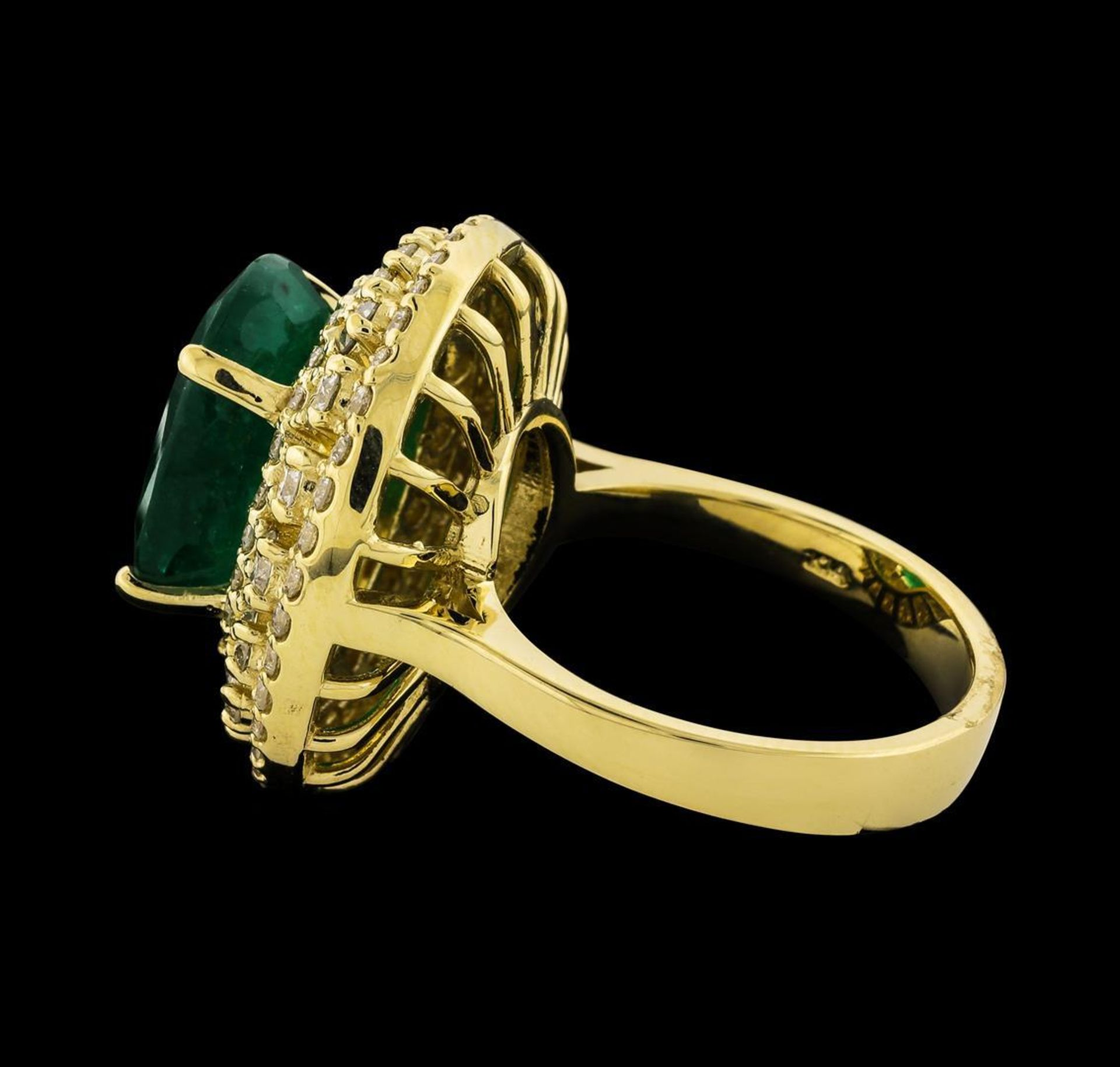 6.63 ctw Emerald and Diamond Ring - 14KT Yellow Gold - Image 3 of 5
