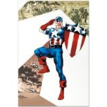 "Marvel Comics ""Captain America Corps #2"" Numbered Limited Edition Giclee on Canv"