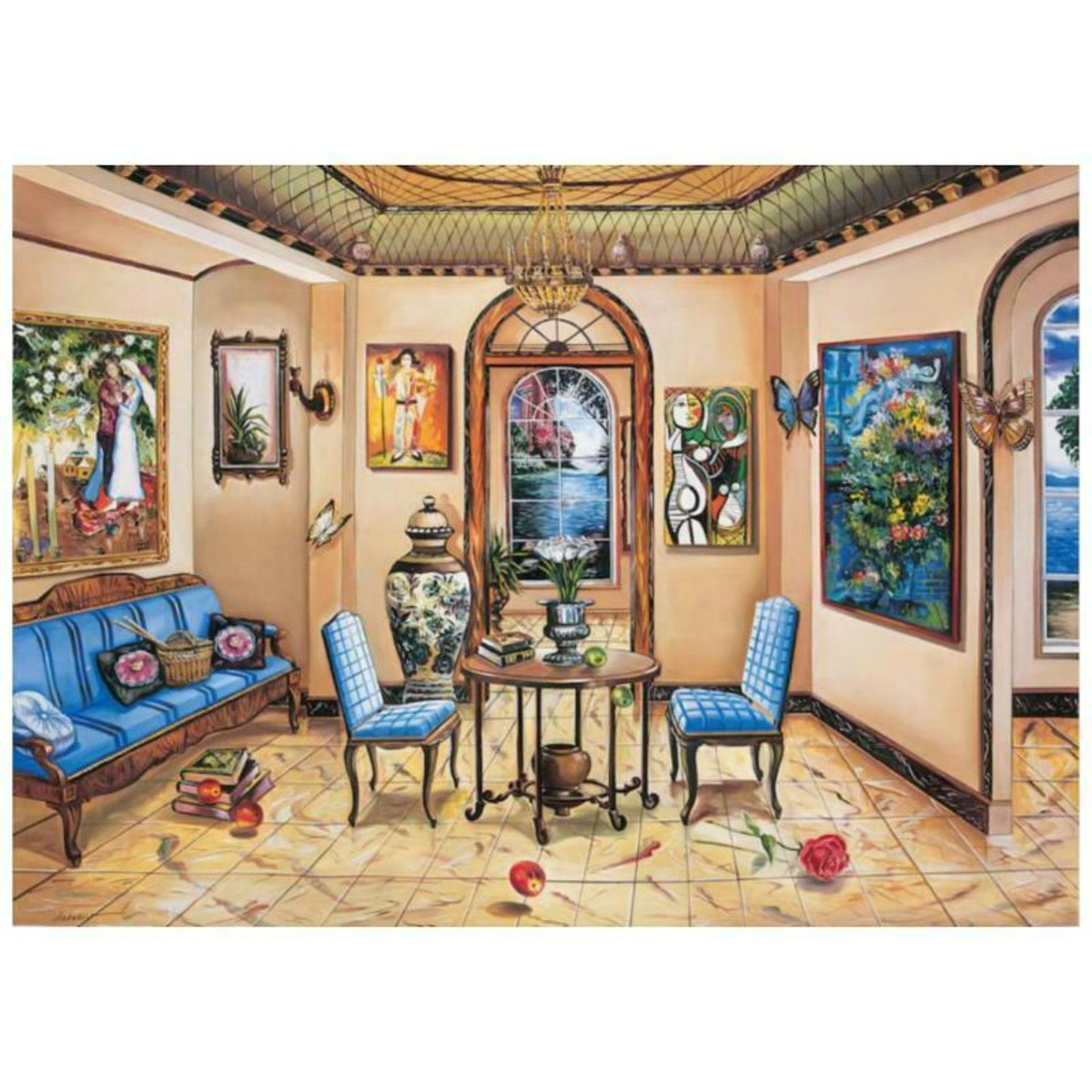 """Alexander Astahov, """"Dining with the Master"""" Hand Signed Limited Edition Giclee o"""