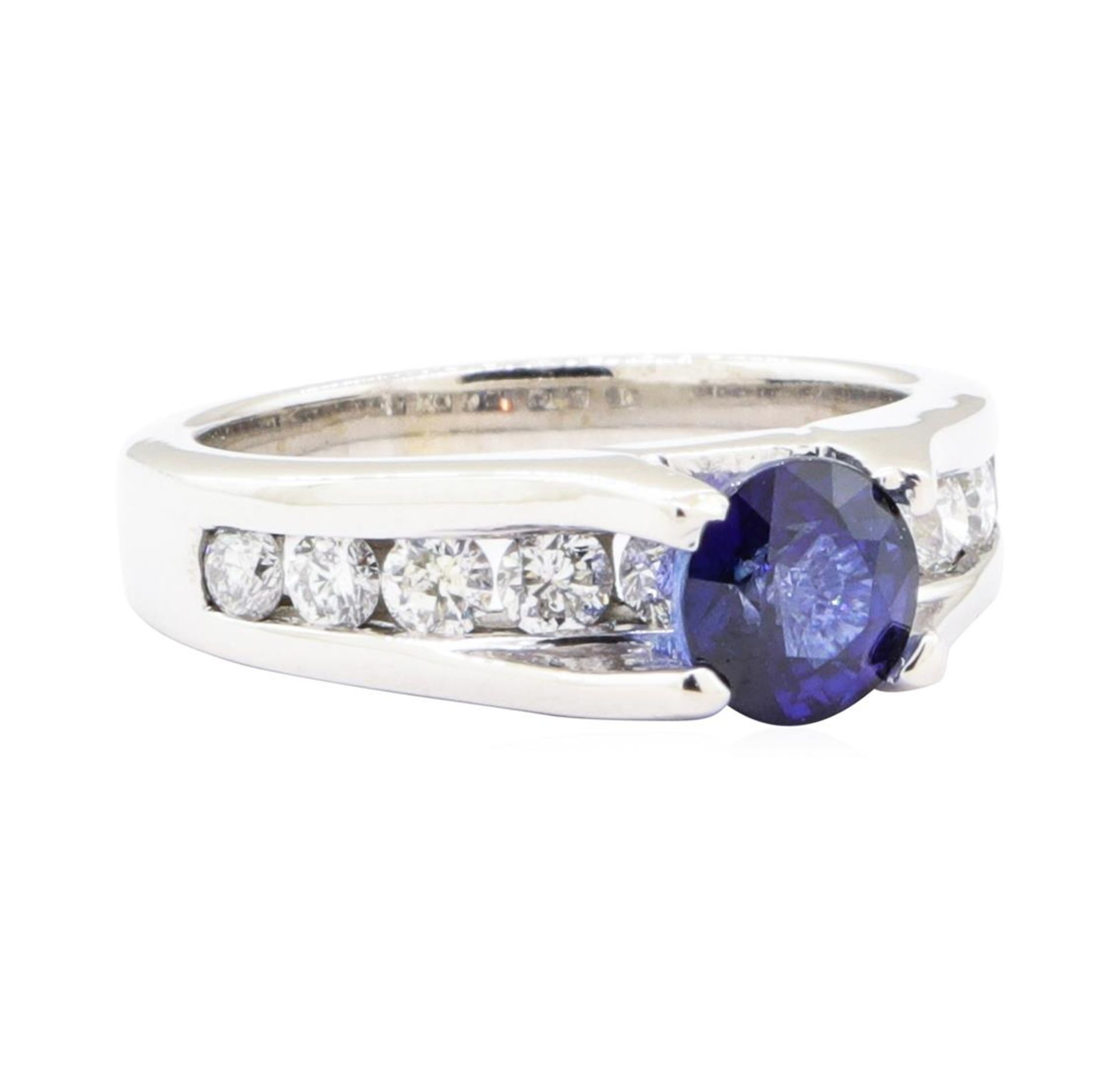 2.05ctw Sapphire and Diamond Ring - 14KT White Gold