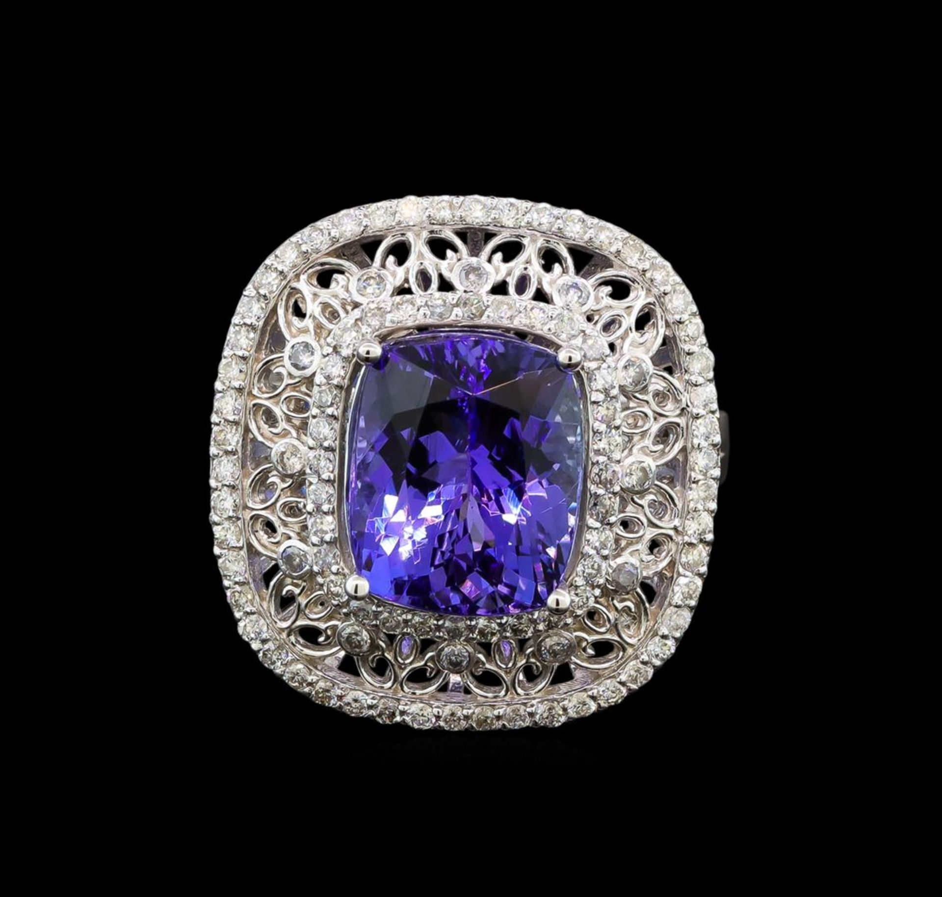 14KT White Gold 5.29 ctw Tanzanite and Diamond Ring - Image 2 of 5