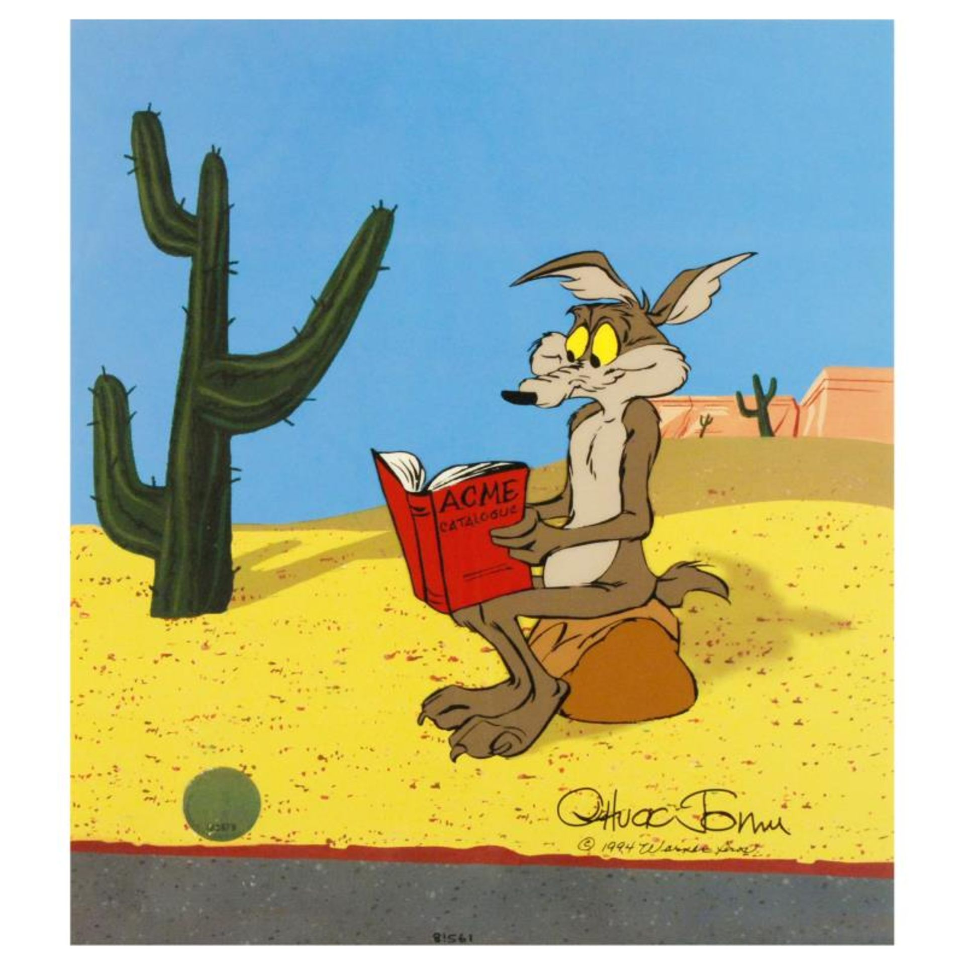 """""""Acme Catalogue"""" Limited Edition Animation Cel with Hand Painted Color. Numbered"""