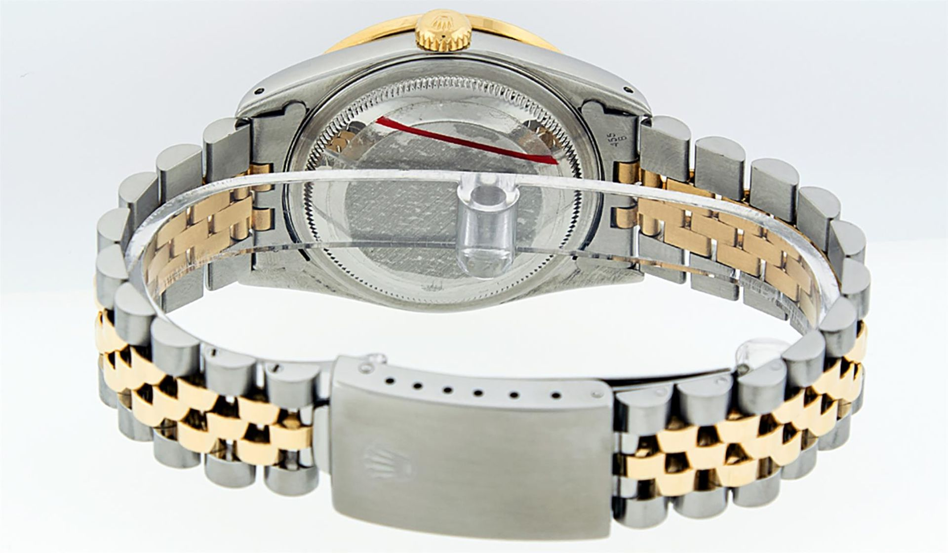 Rolex Mens 2 Tone Lugs Red Vignette Diamond String & Ruby Datejust Wristwatch - Image 6 of 9