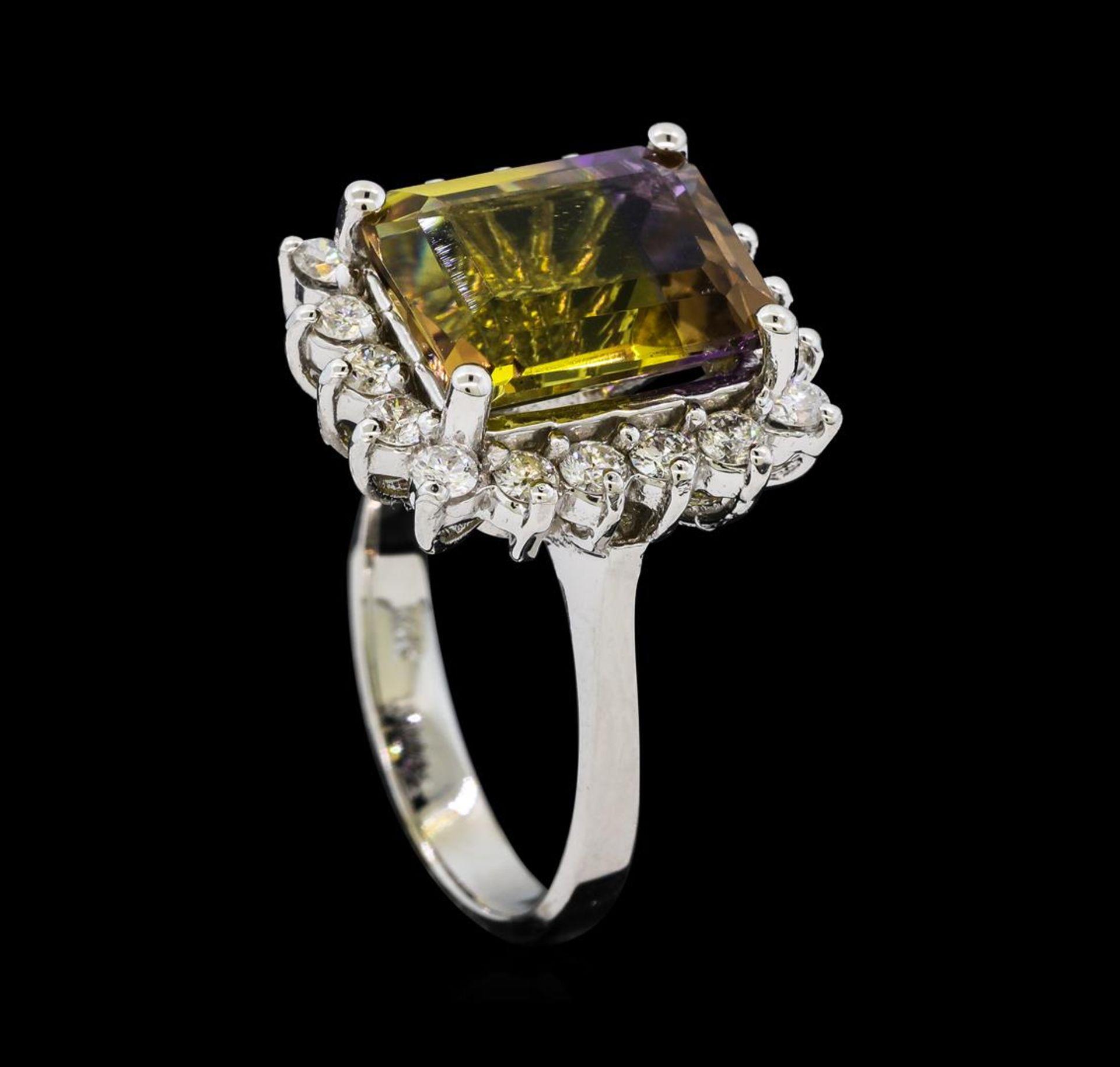 4.62 ctw Ametrine Quartz and Diamond Ring - 14KT White Gold - Image 4 of 4