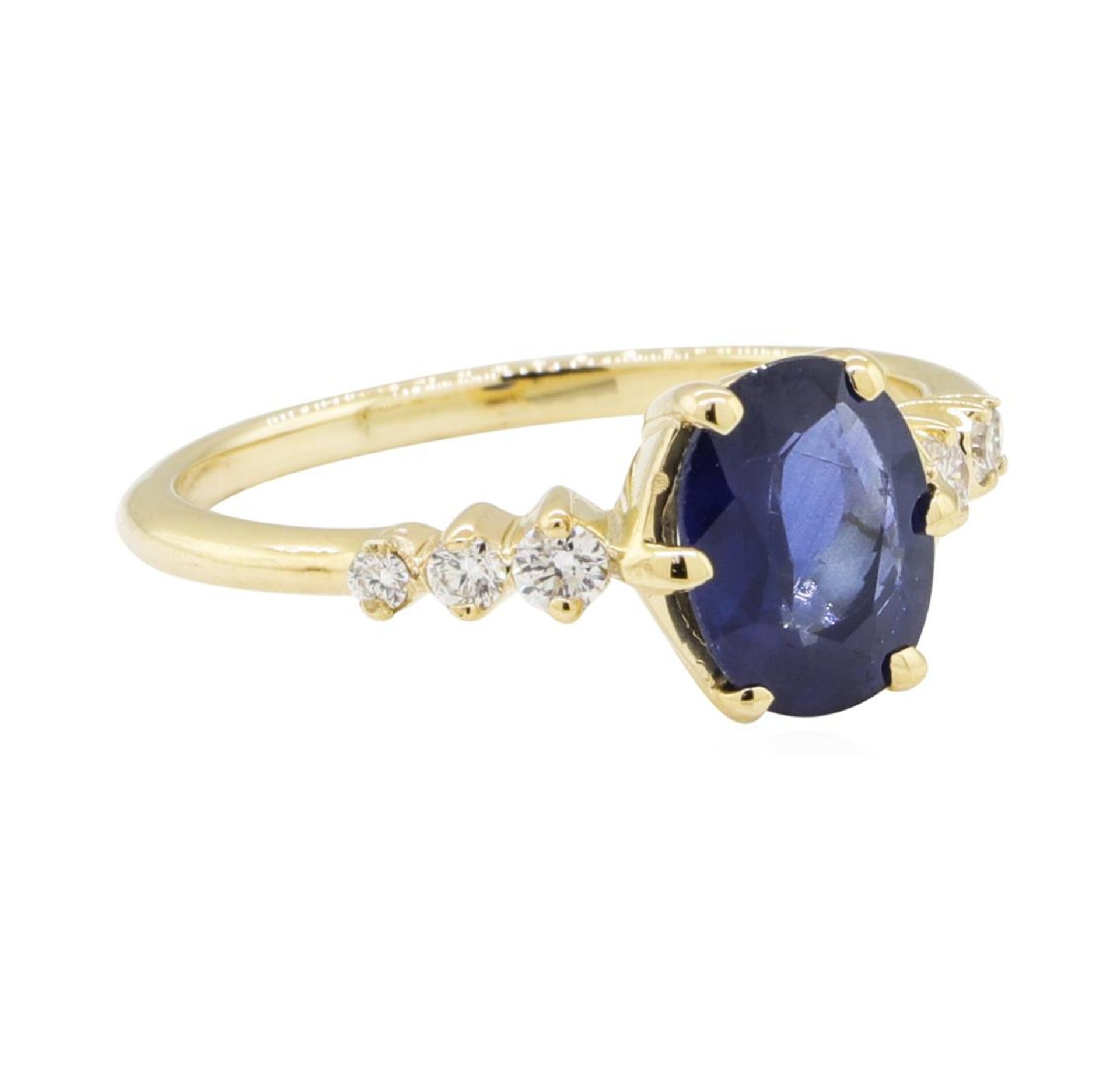 1.43ctw Sapphire and Diamond Ring - 14KT Yellow Gold