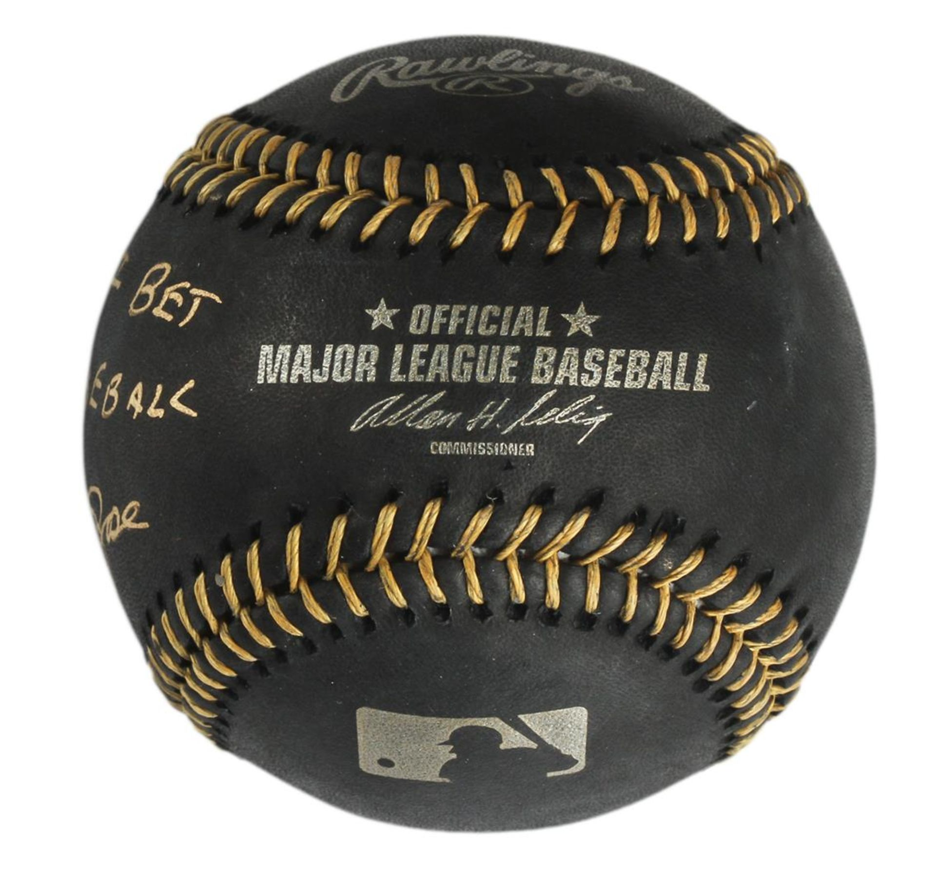"Autographed Pete Rose ""I'm Sorry"" Black Baseball - Image 2 of 3"