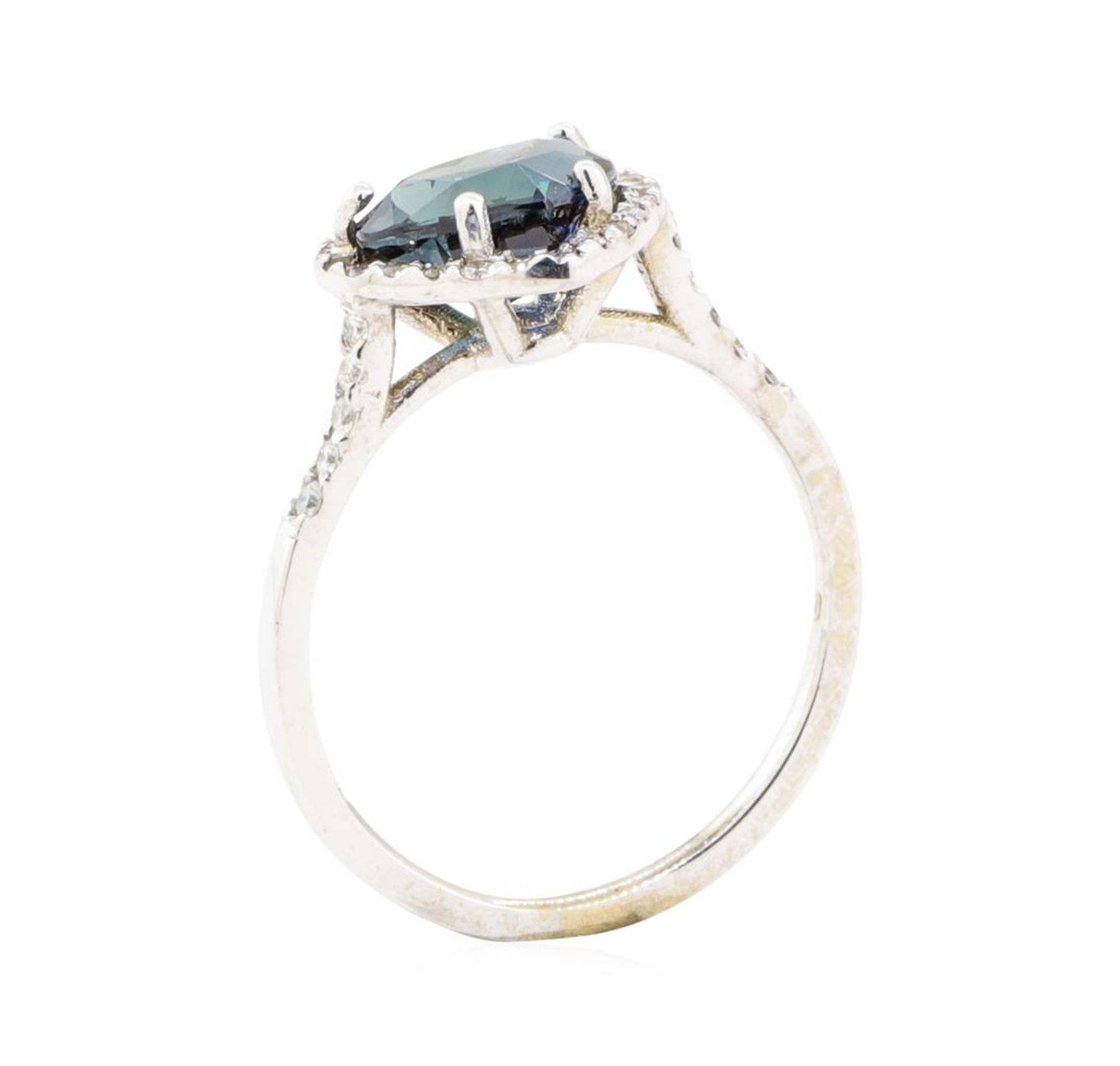 2.66 ctw Sapphire And Diamond Ring - 18KT White Gold - Image 4 of 5