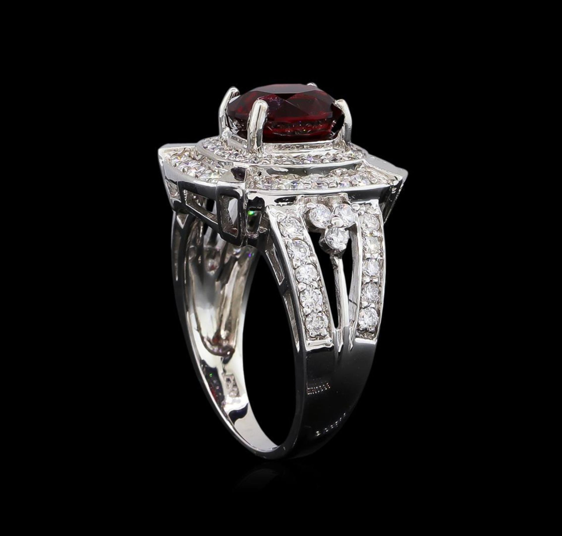 14KT White Gold 2.67 ctw Spinel and Diamond Ring - Image 4 of 5