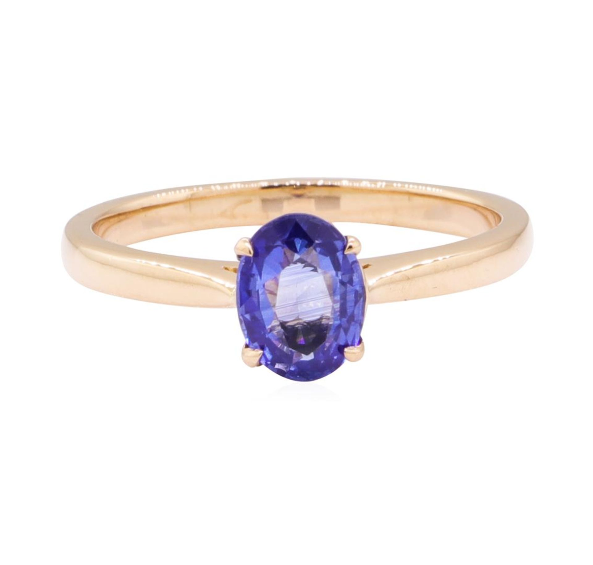 0.98ct Blue Sapphire Ring - 18KT Rose Gold - Image 2 of 4
