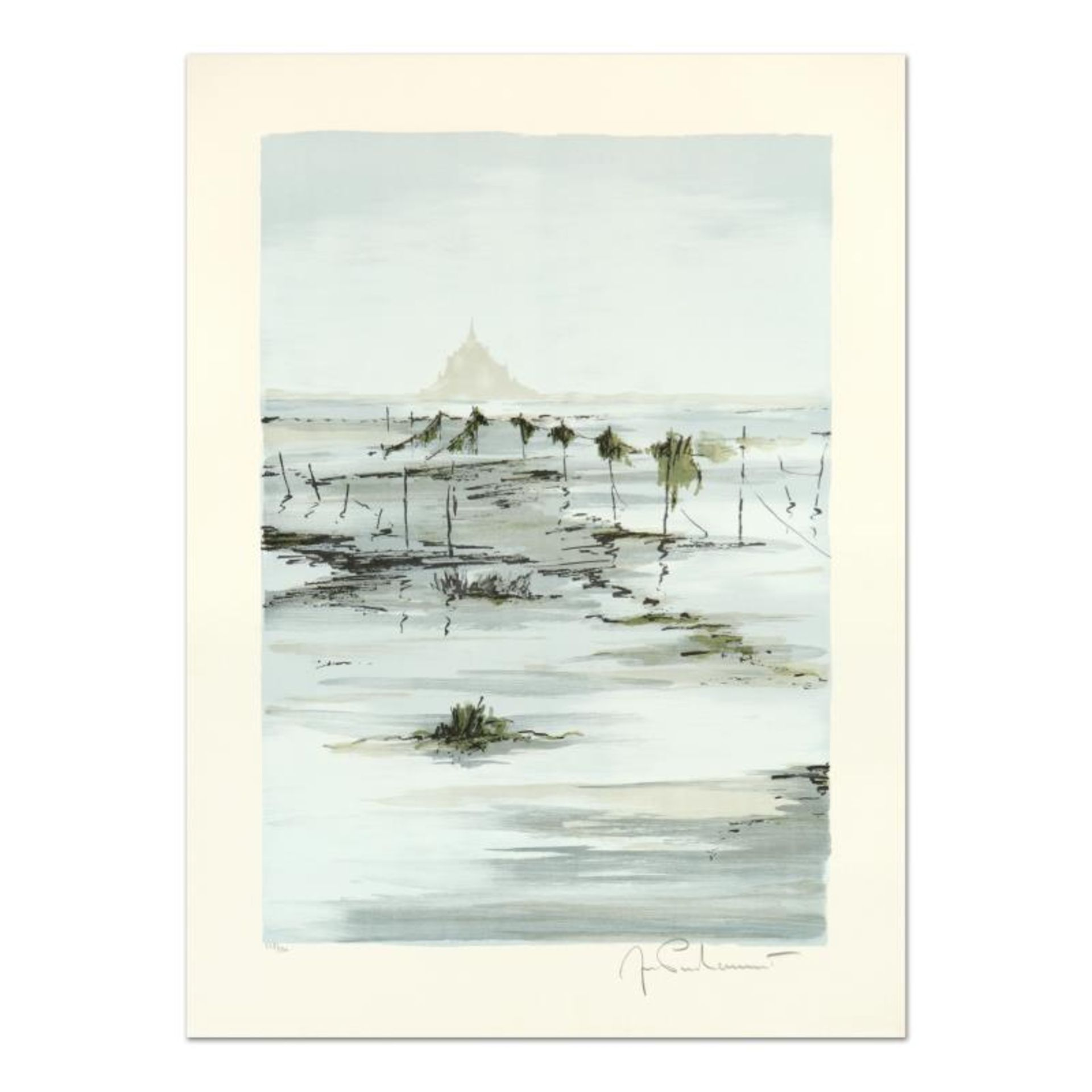 """Laurant, """"St. Michele at Morning"""" Limited Edition Lithograph, Numbered and Hand"""
