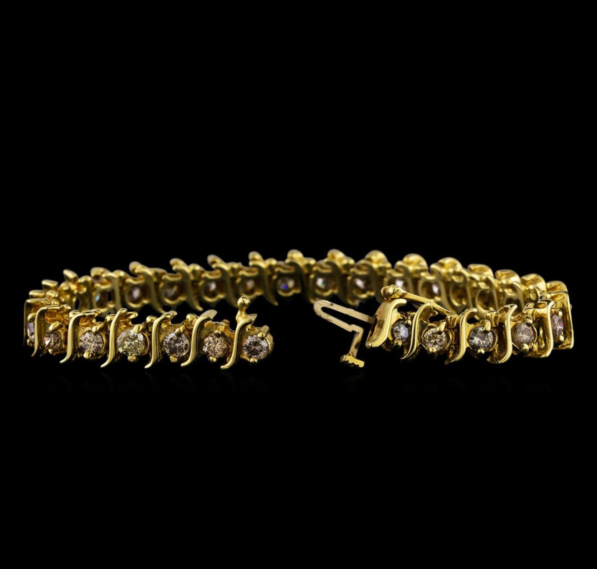 4.85 ctw Diamond Bracelet - 14KT Yellow Gold - Image 3 of 4