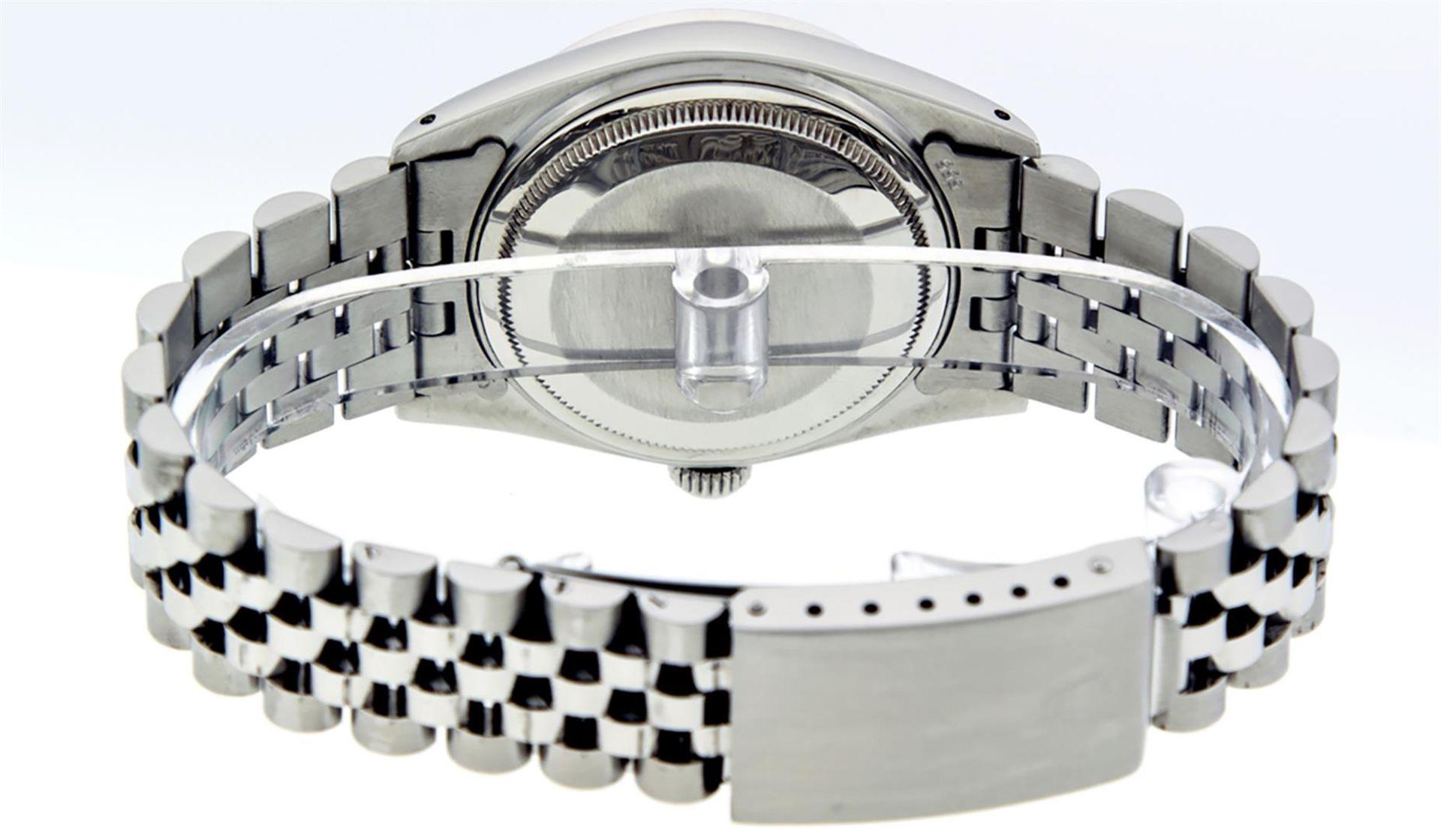 Rolex Mens Stainless Steel Diamond Lugs & Ruby Datejust Wristwatch - Image 6 of 8