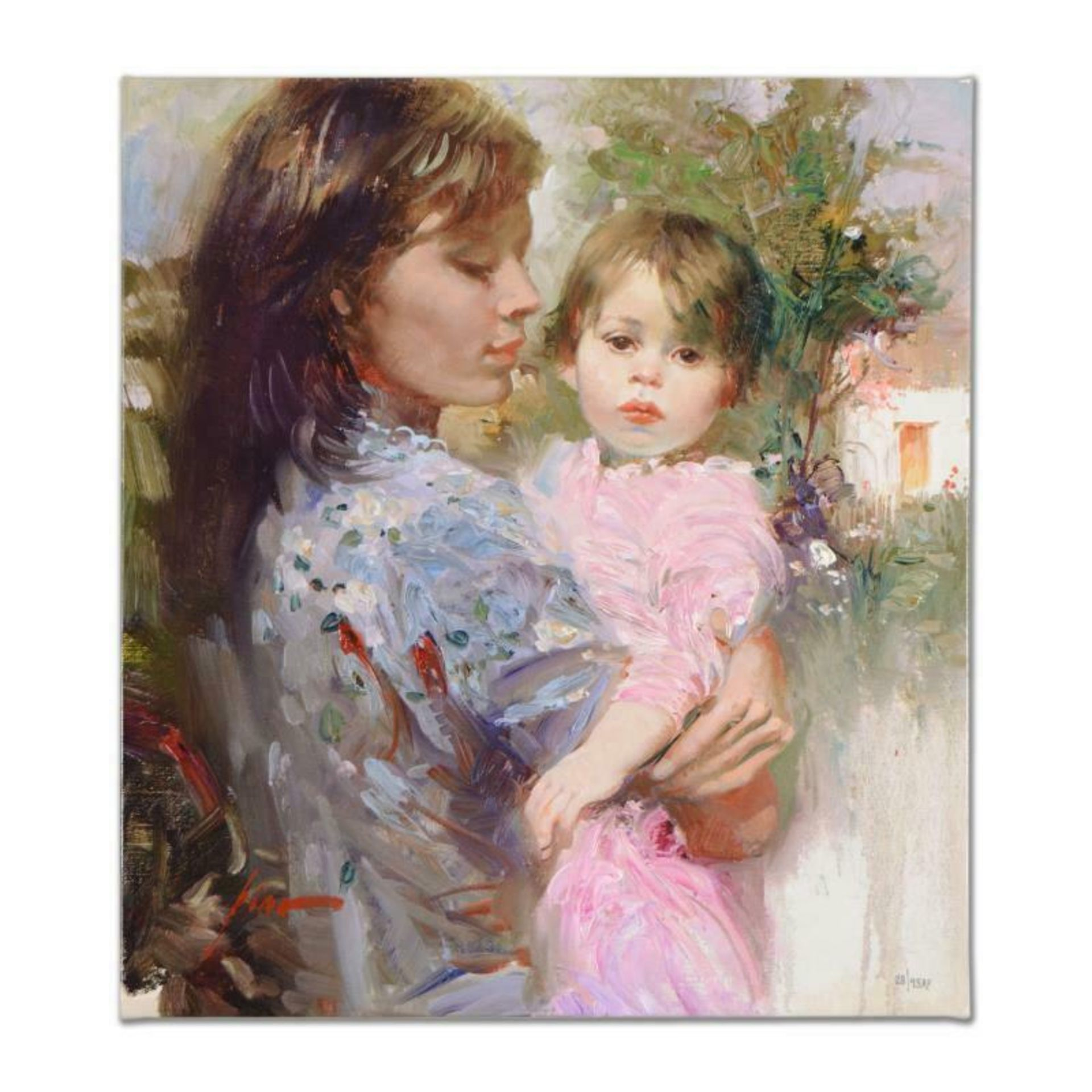 """Pino (1939-2010), """"Little Cherub"""" Artist Embellished Limited Edition on Canvas,"""