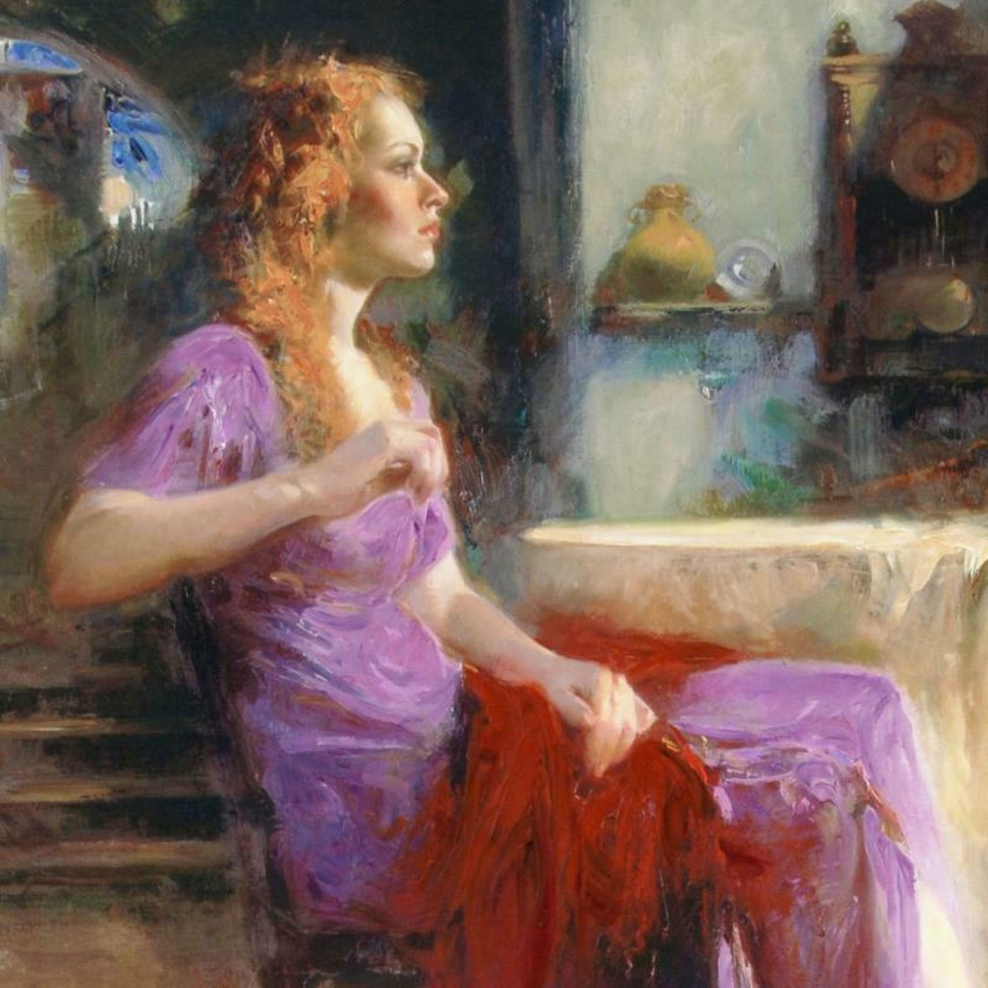 """Pino (1939-2010), """"Longing For"""" Artist Embellished Limited Edition on Canvas (36 - Image 2 of 2"""