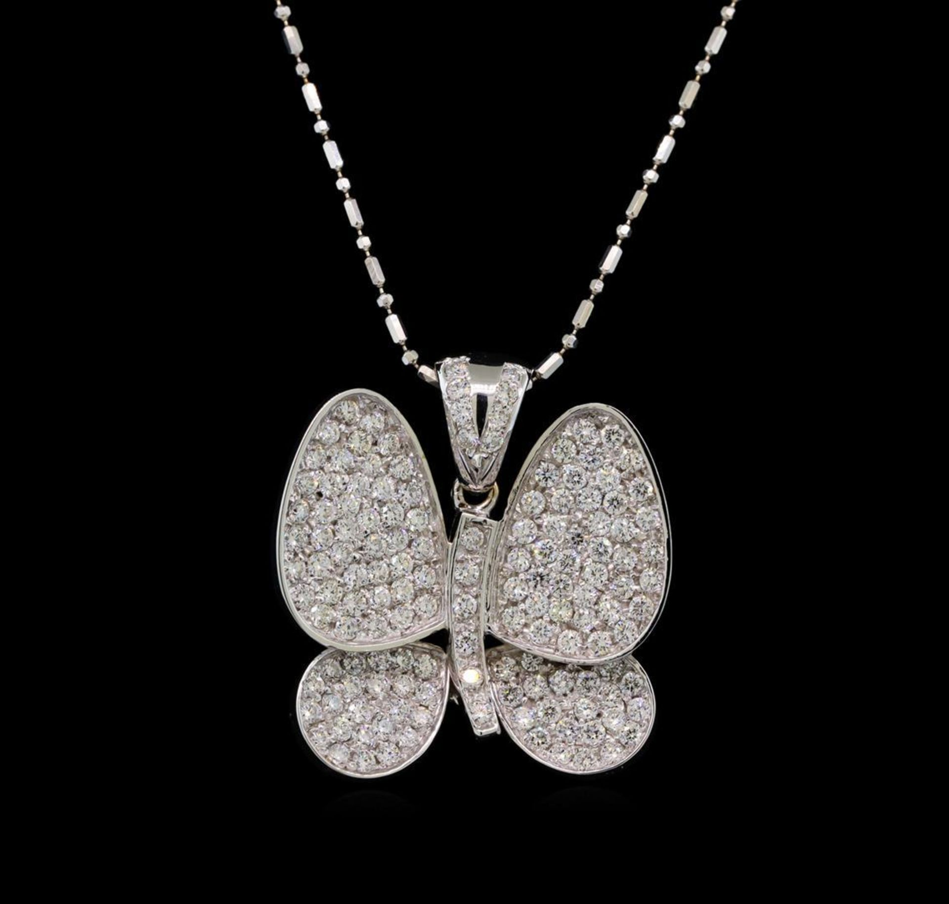 14KT White Gold 2.35 ctw Diamond Pendant With Chain - Image 2 of 3