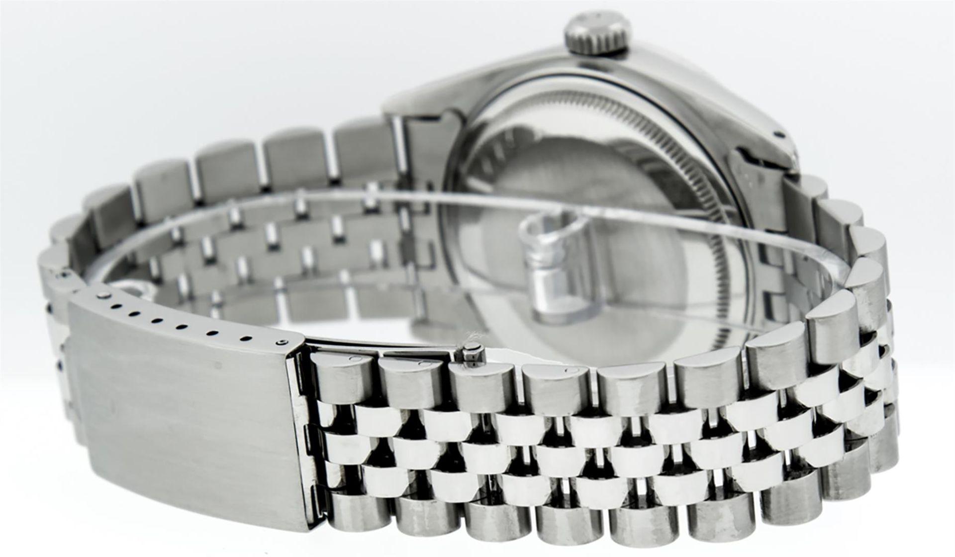 Rolex Mens Stainless Steel Diamond Lugs & Ruby Datejust Wristwatch - Image 4 of 8